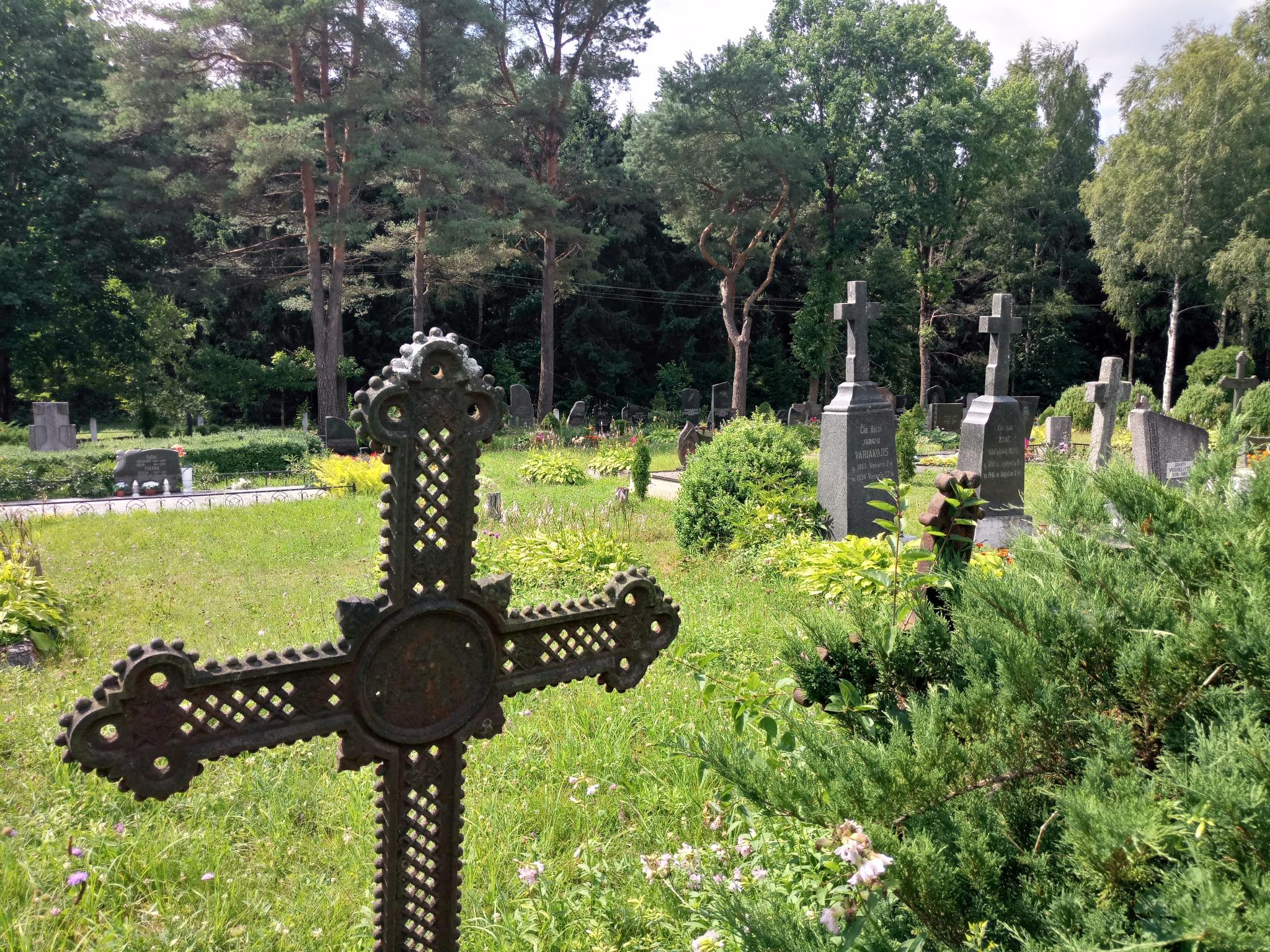 Village cemetery 6 by Zenonas Meškauskas