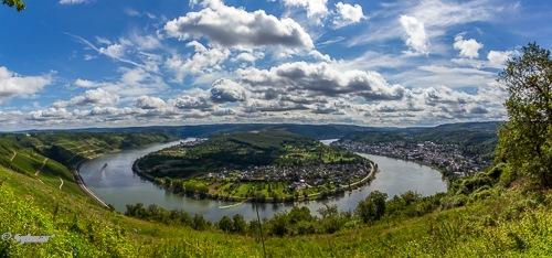 River Rhine at Boppart, Germany by Sylmar