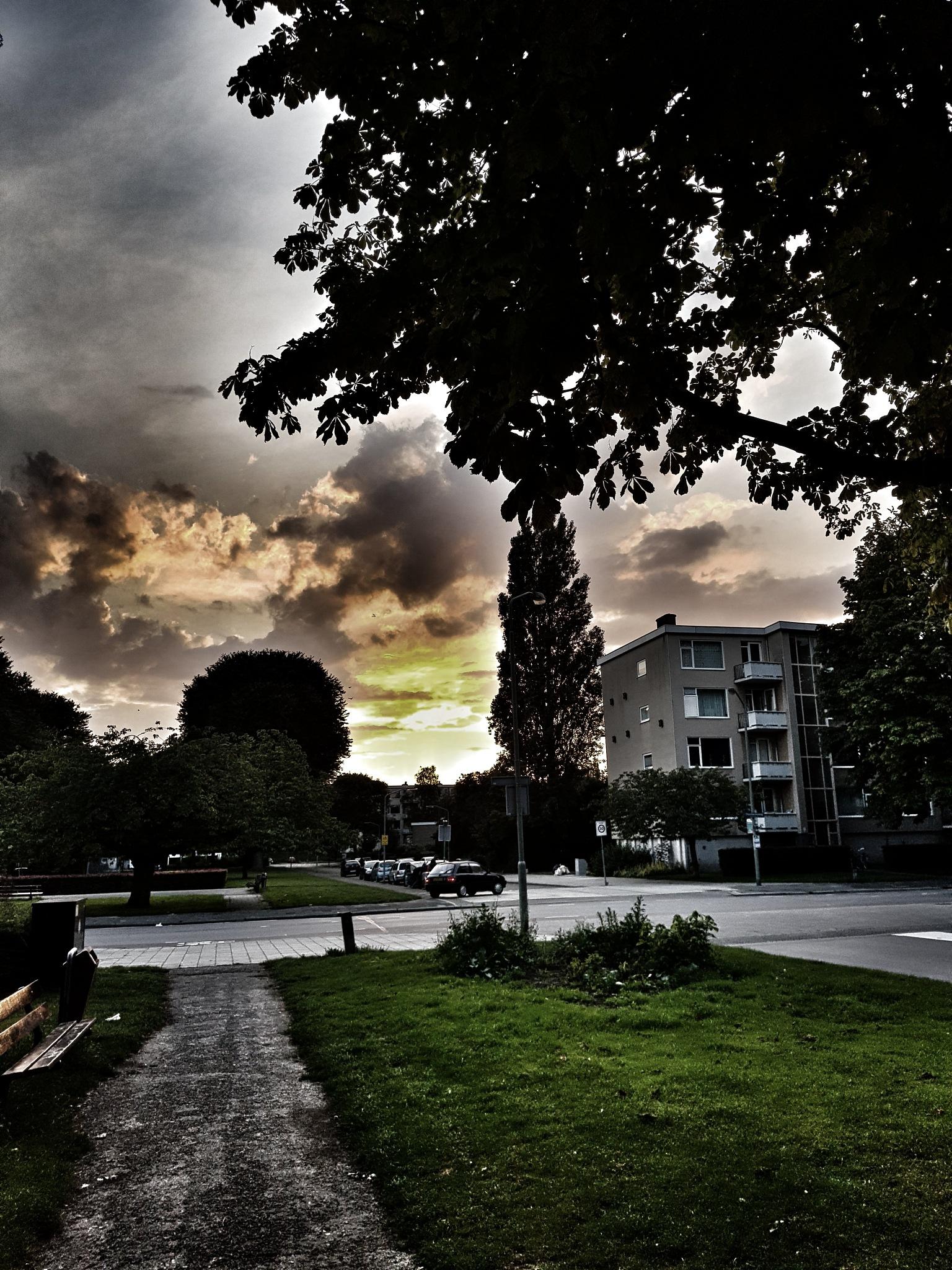 Sunset , zonsondergang  by Aart Bol