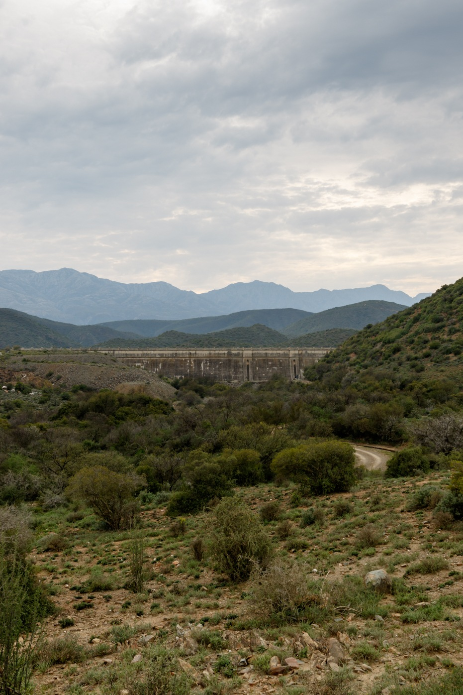 Portrait - Dam wall at Calitzdorp by Mark de Scande