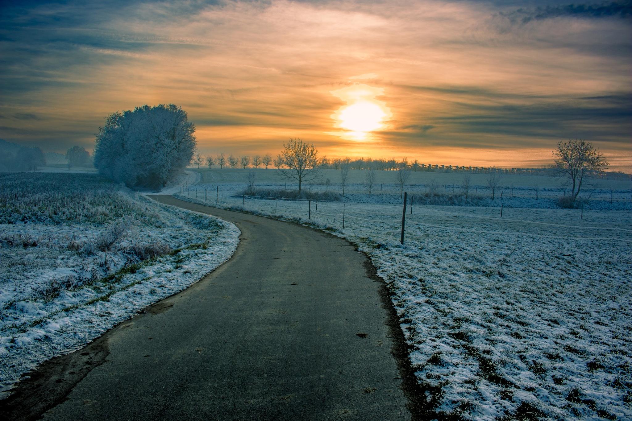 winter sunset by John Palmer
