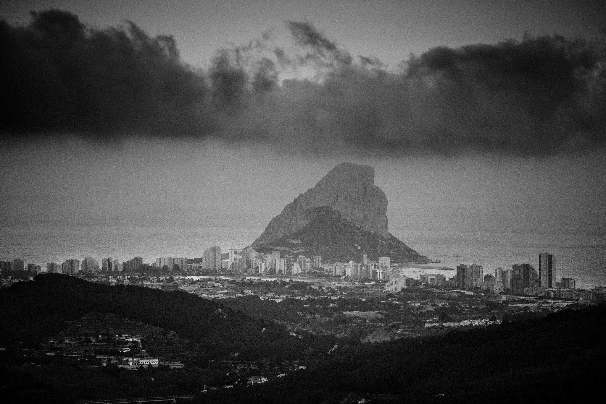 Calpe under a cloud by GWHMantel