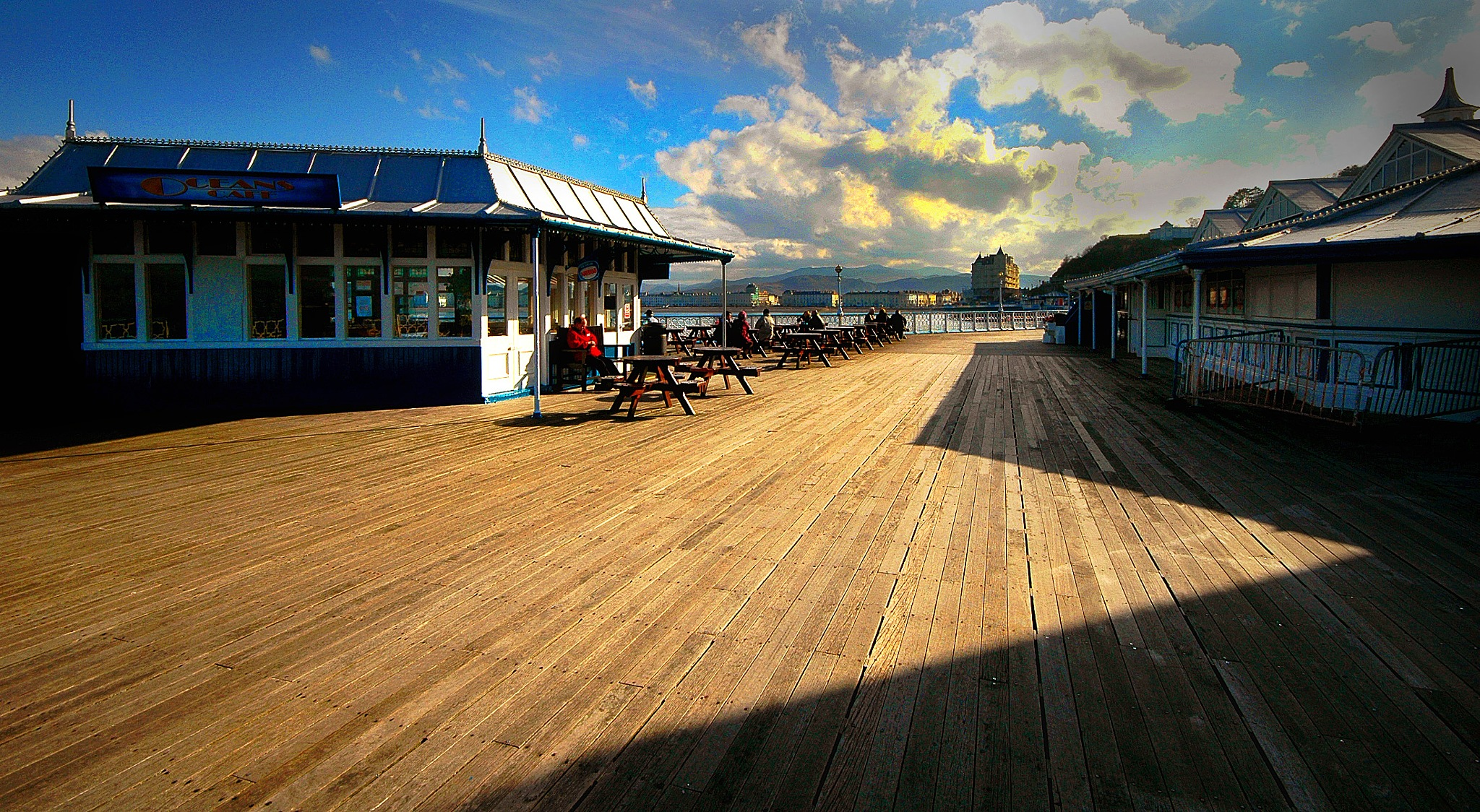 Late Afternoon on the Pier by John Roberts