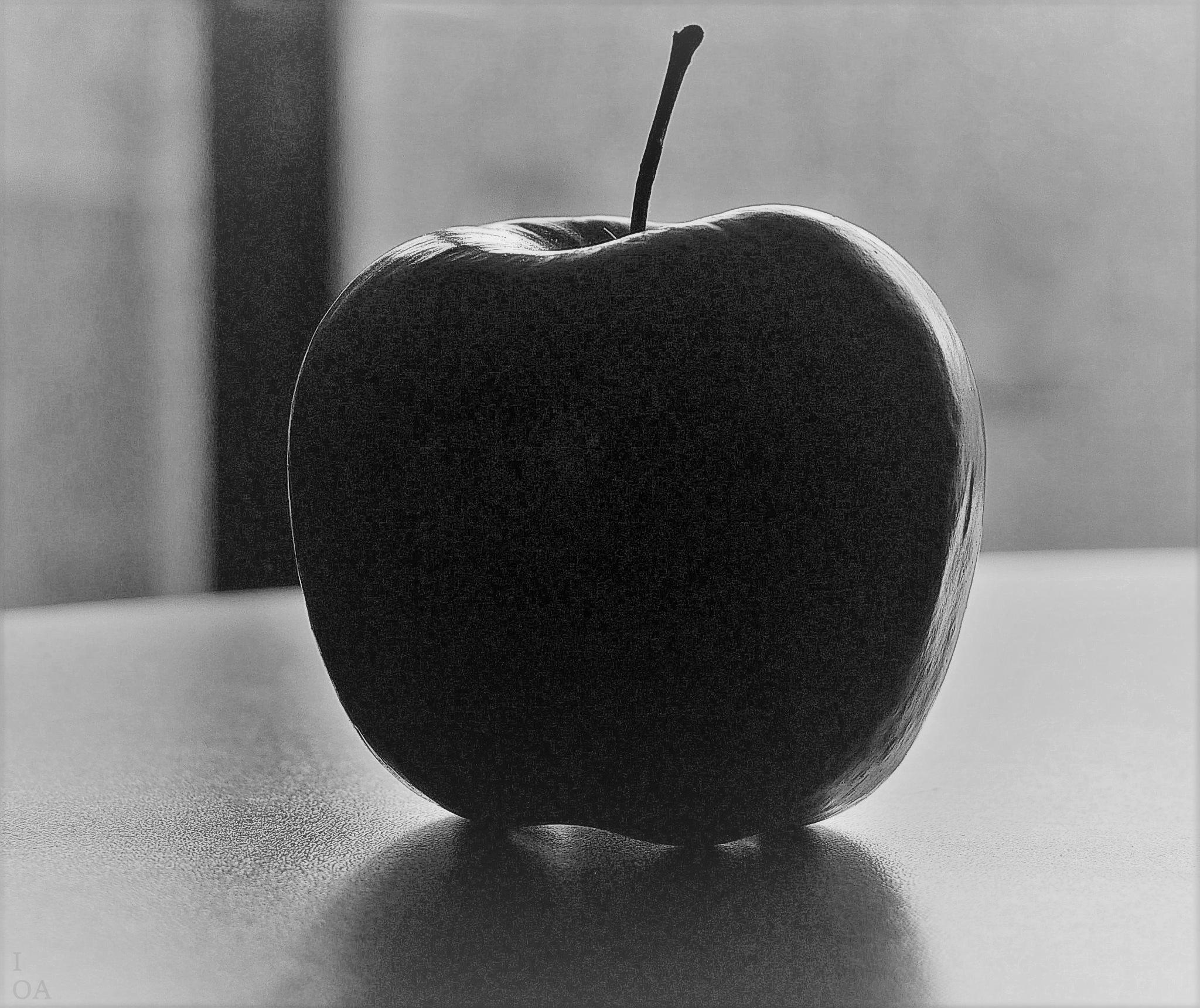 Apple B&W by imageofantwerp