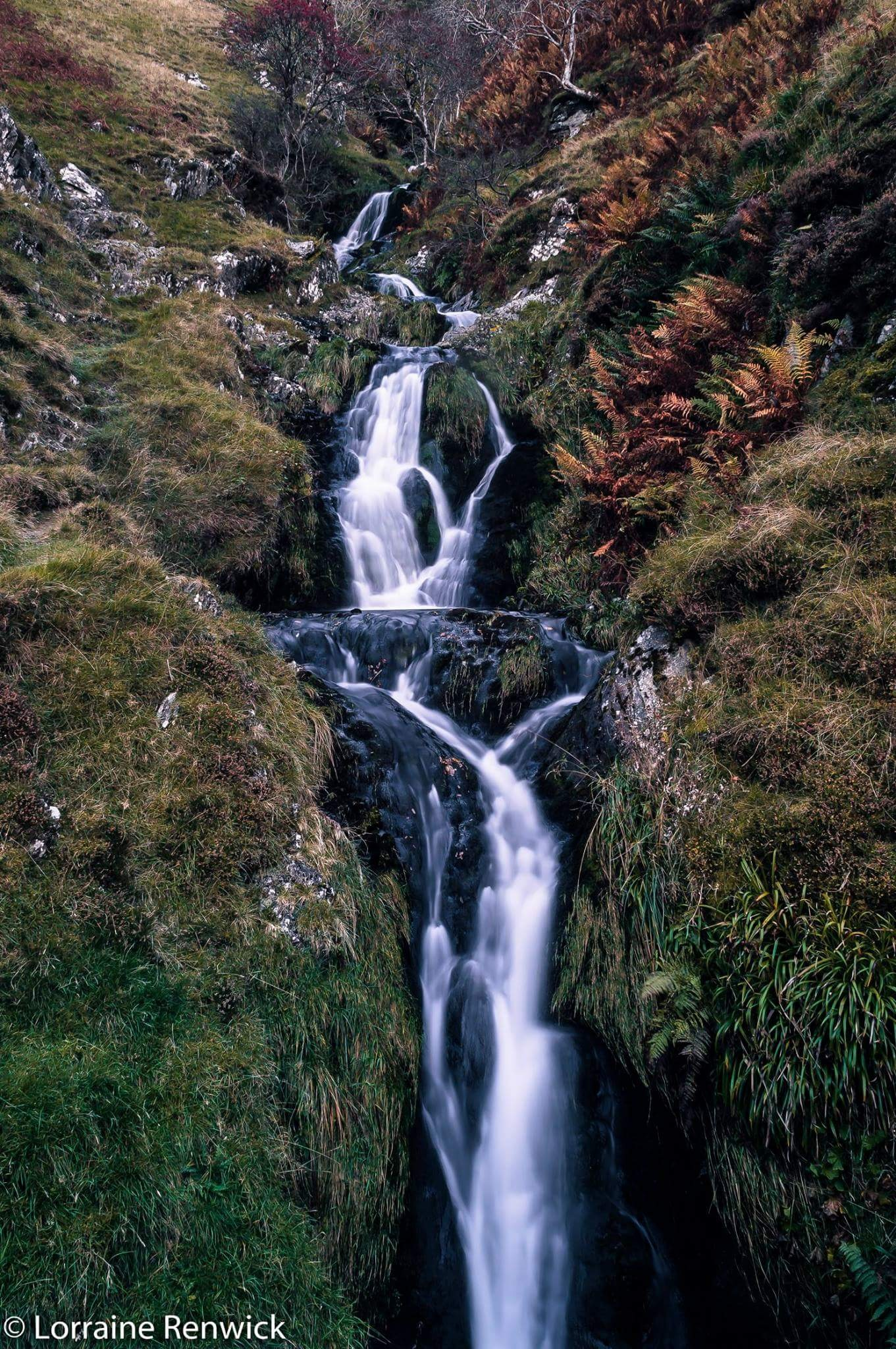 Waterfall on the Dalveen Pass near Dumfries, Scotland by LorraineRenwick