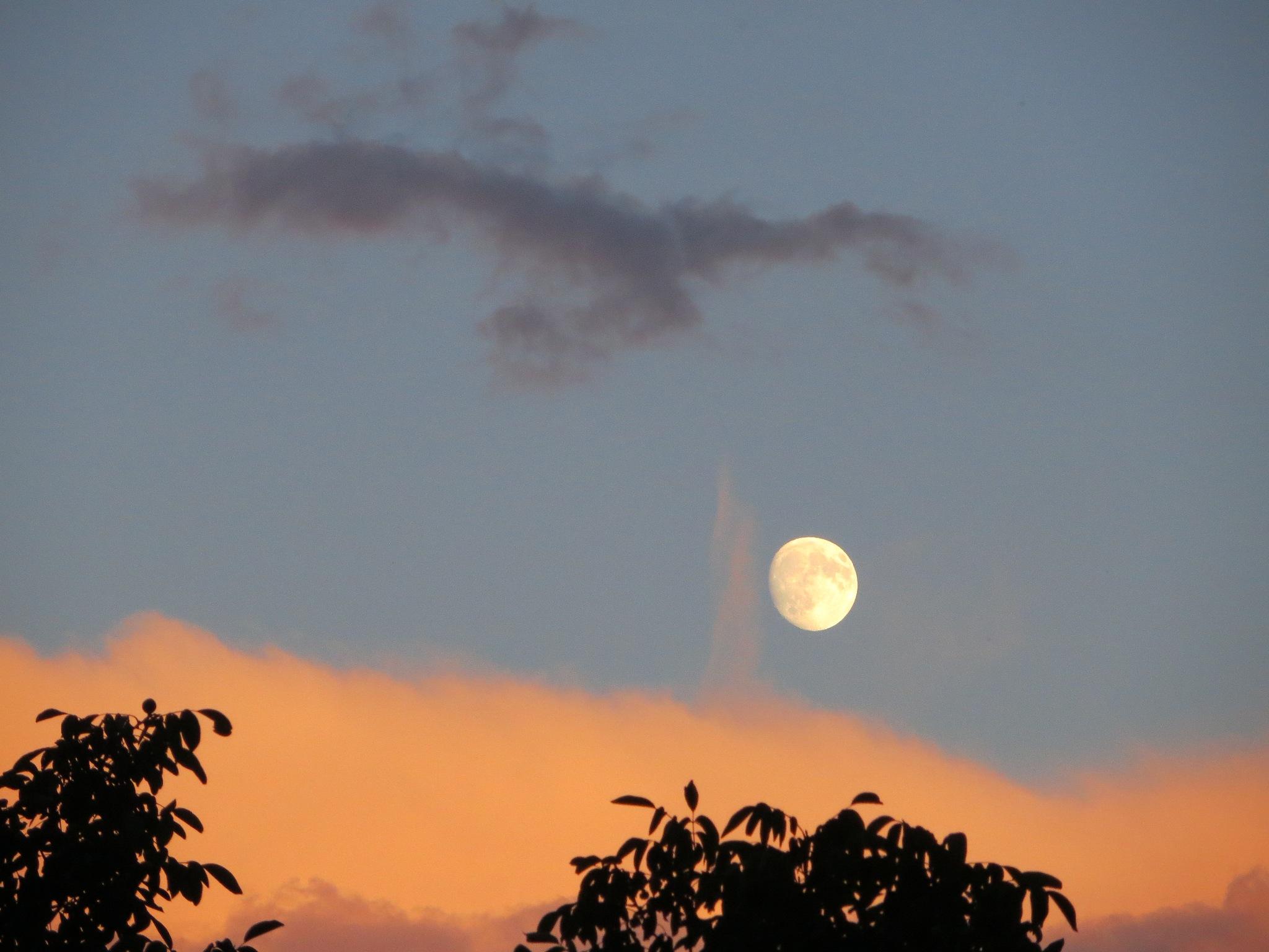 Cloud keep over the moon by kamelk
