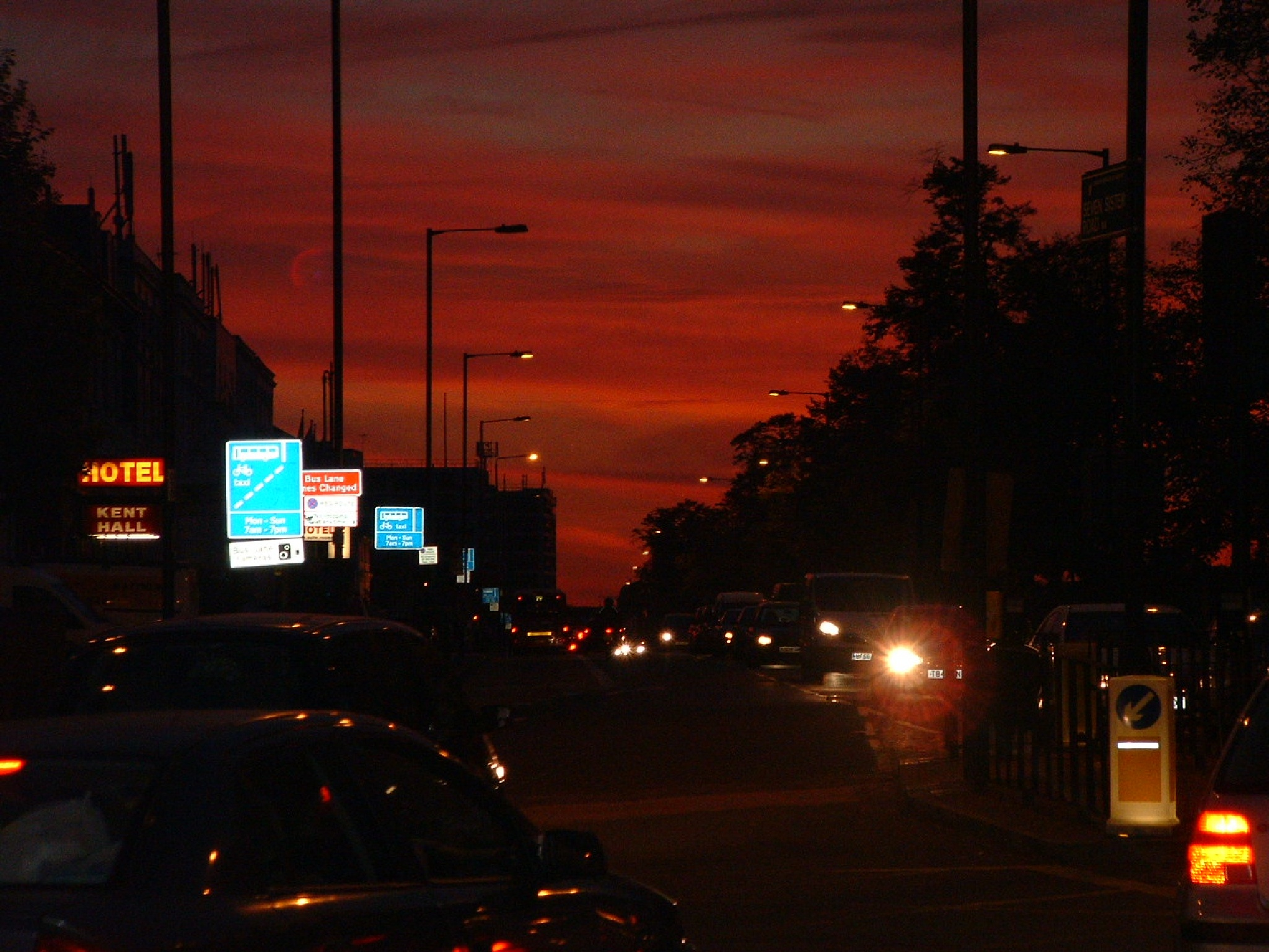 Lights vs darkness -Manor House station - North London by Sima Janan