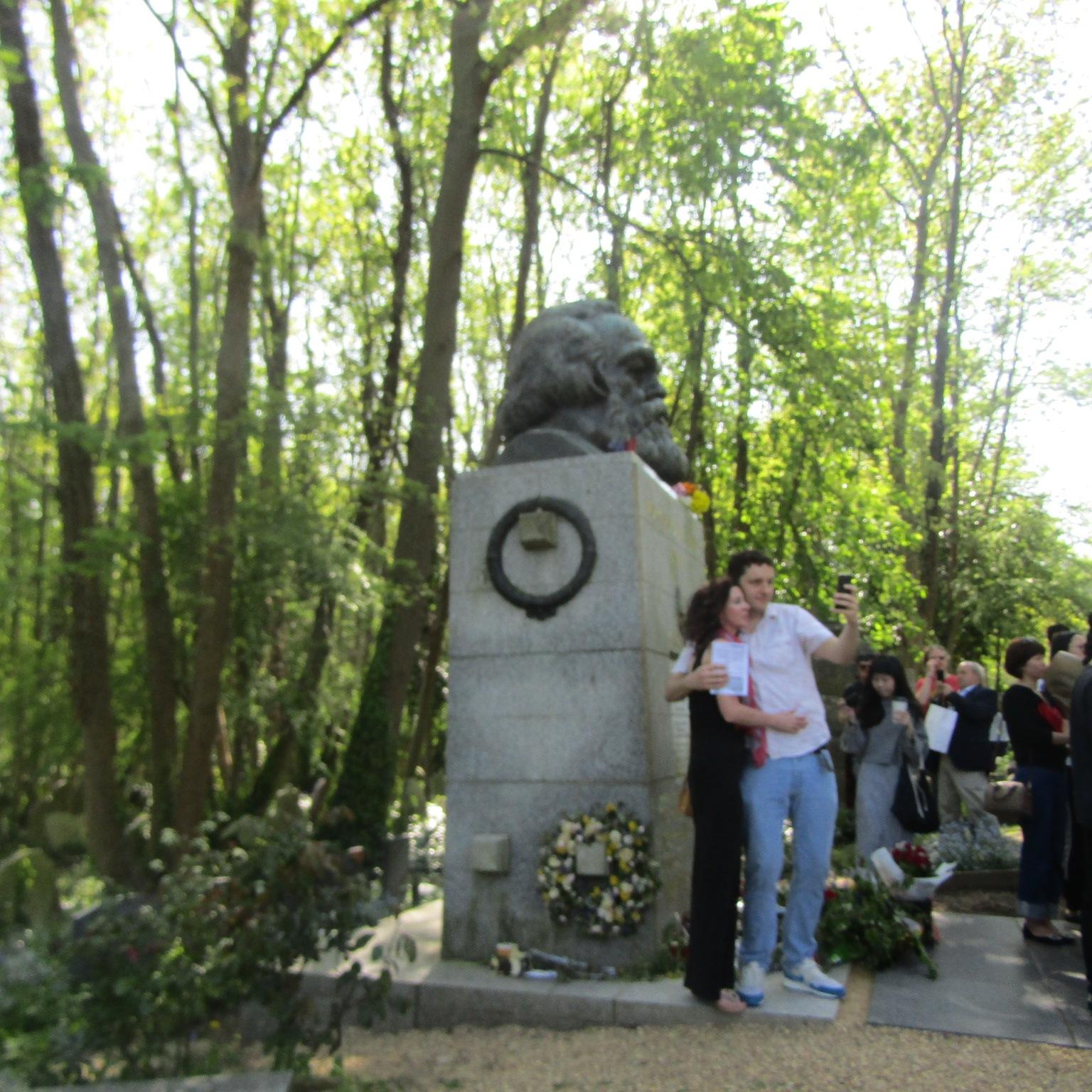Carl Marx visitors  by Sima Janan