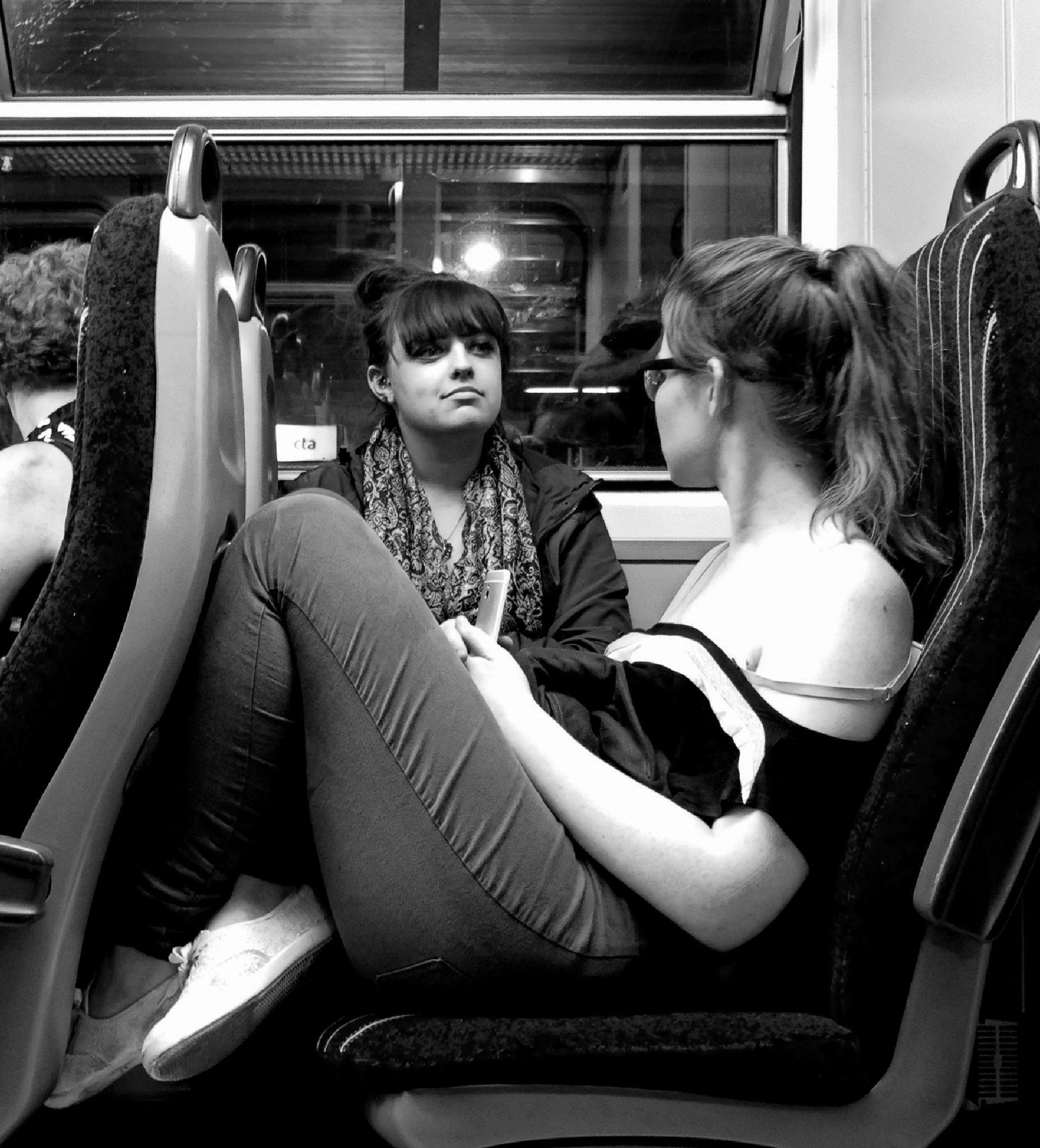 Girls on a train by Dead Batteries