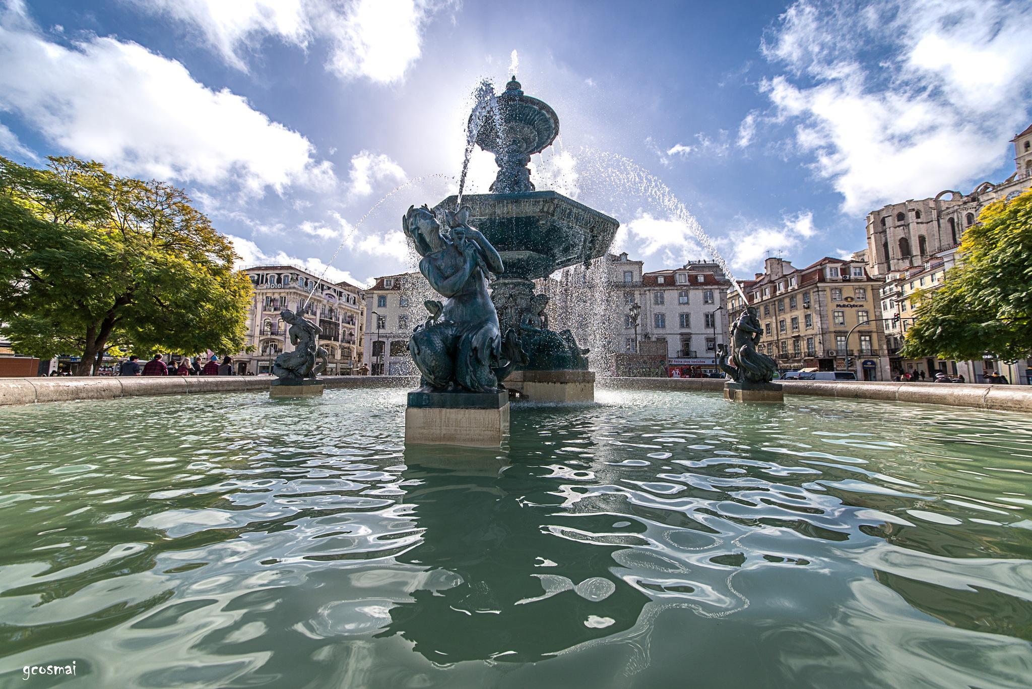 Praça Dom Pedro IV, Lisboa by G.Cosmai
