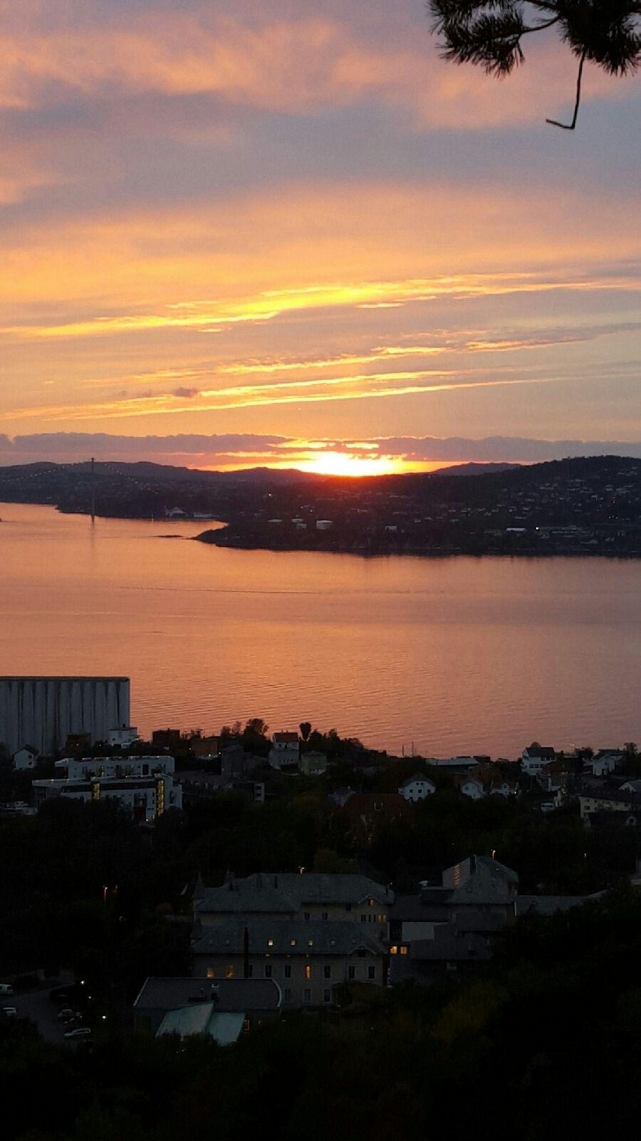 Sunset in Bergen  by Linda M. Moen