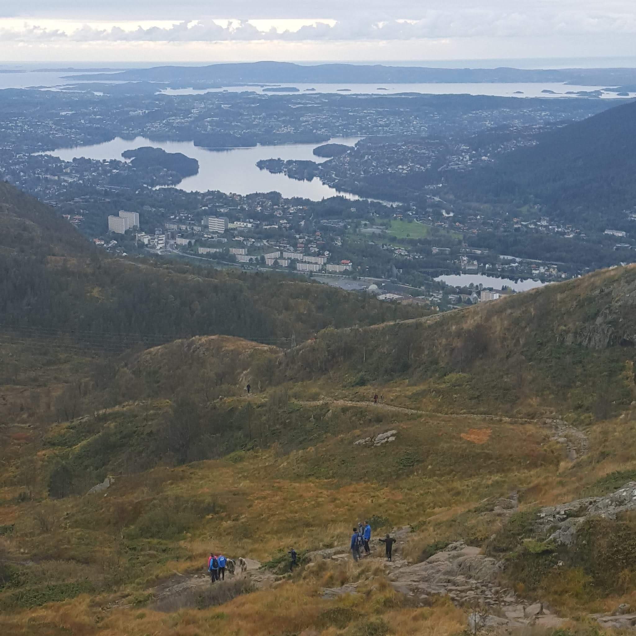 Ulriken.  Mountain in Bergen  by Linda M. Moen