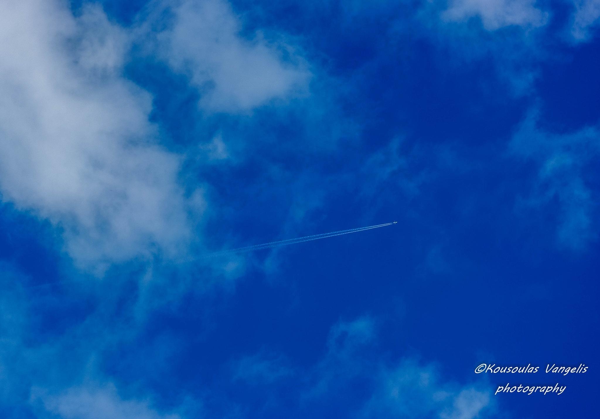 blue sky flight by kousoulas vangelis