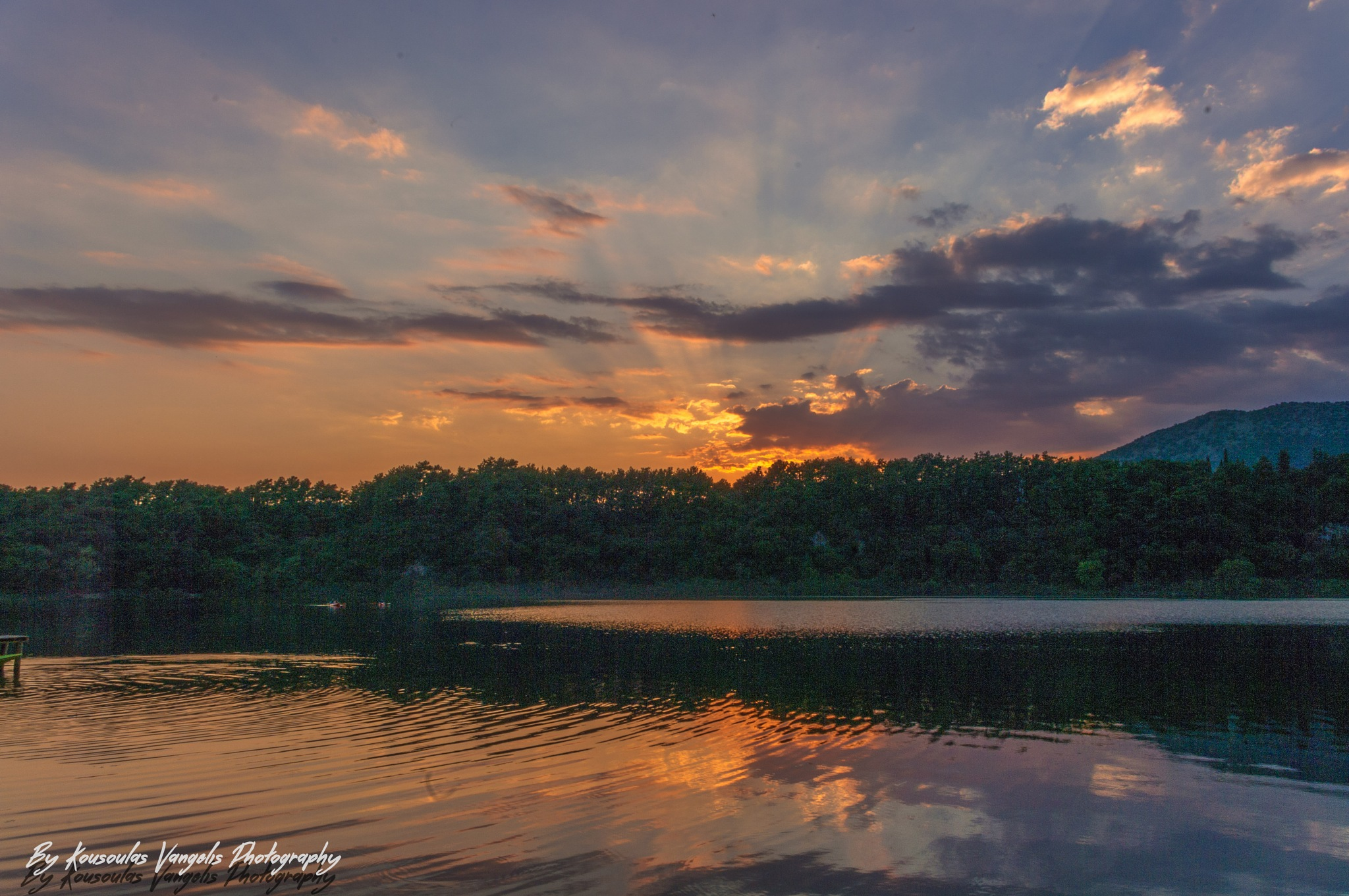 Sunset lake Ziros by kousoulas vangelis