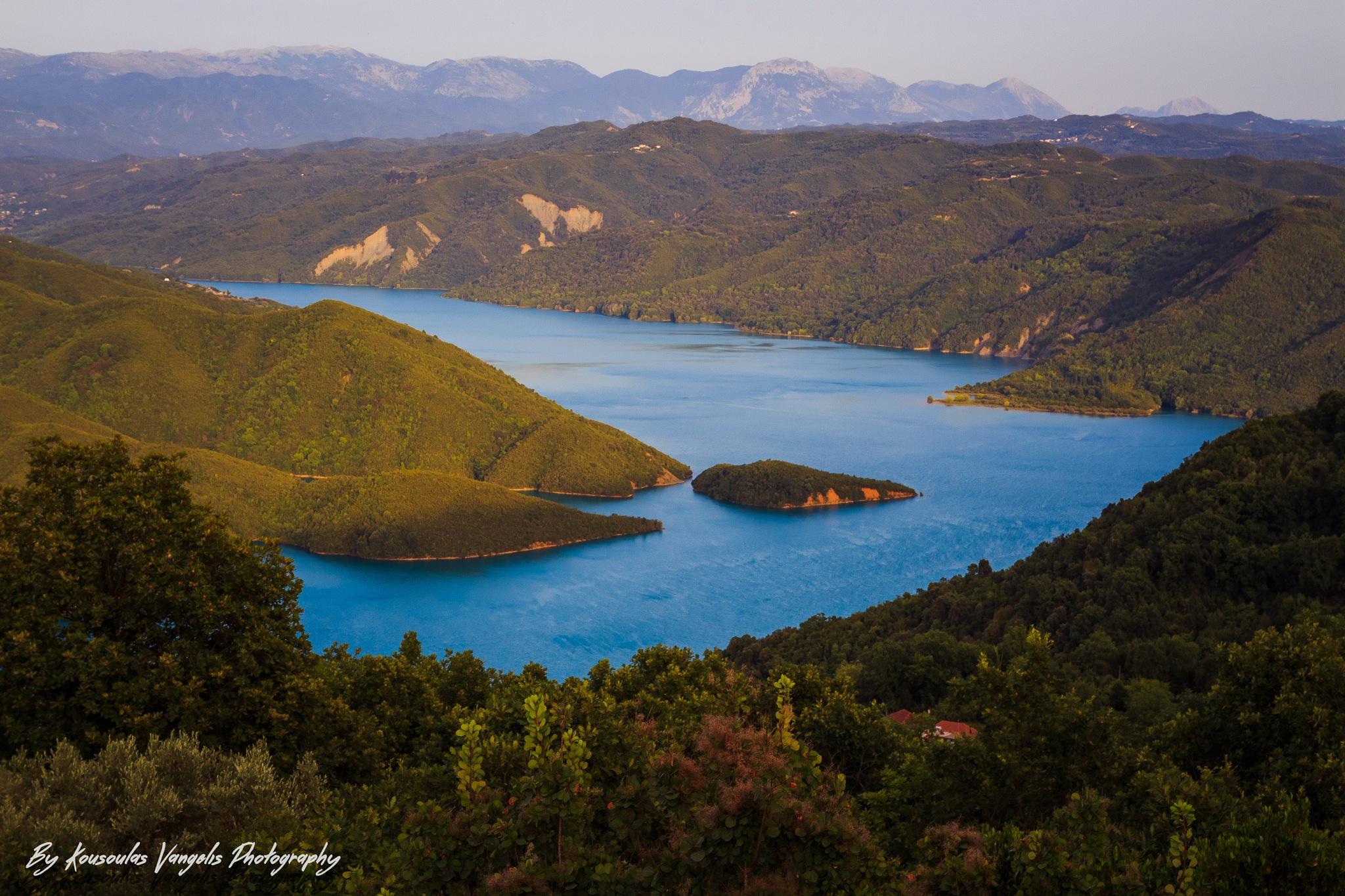 Lake dam pournari artas by kousoulas vangelis