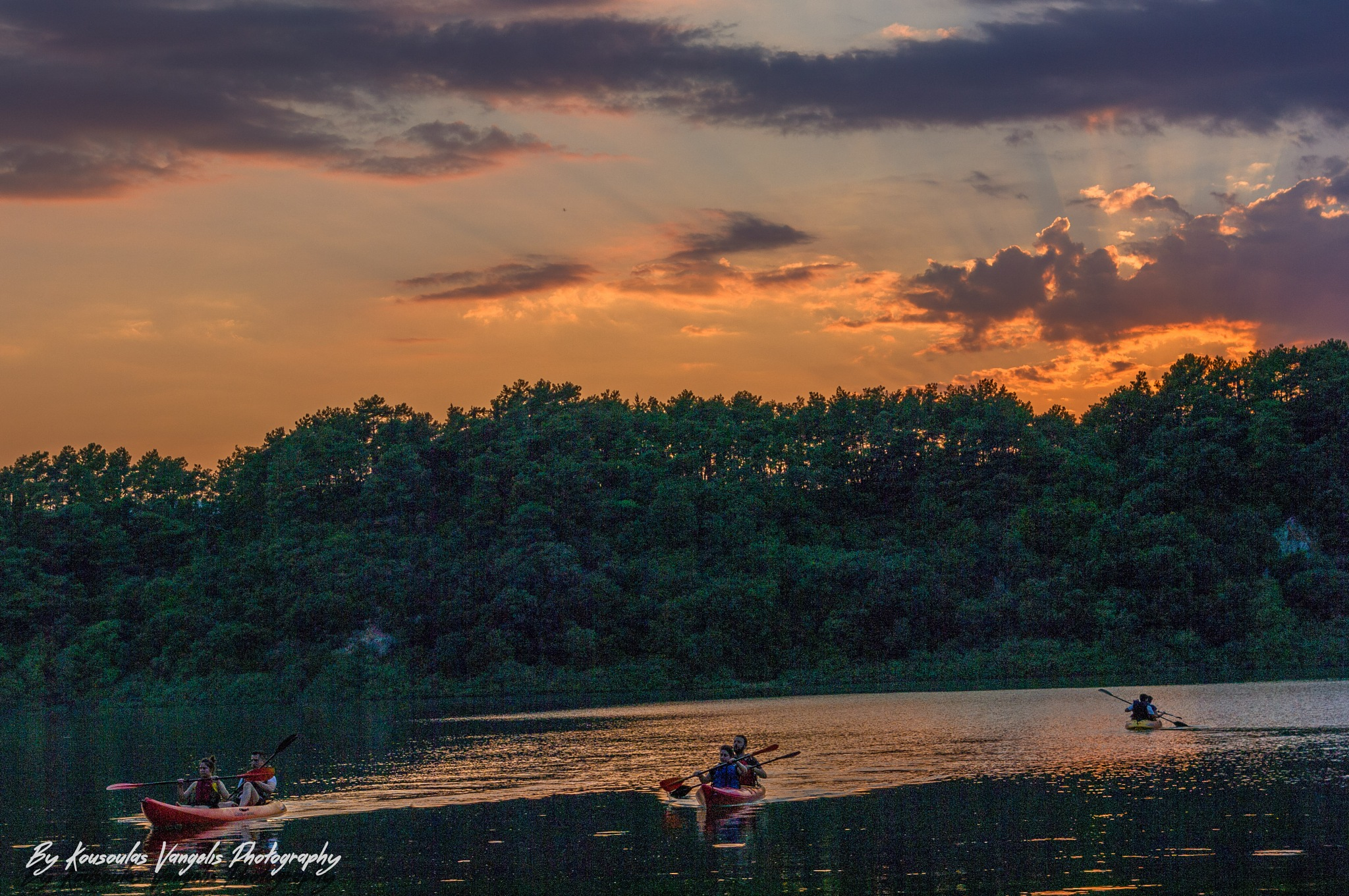 Lake Ziros sunset by kousoulas vangelis