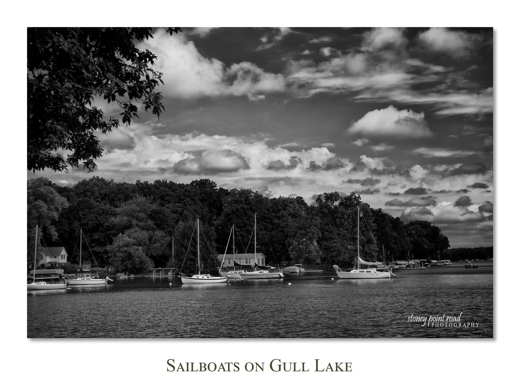 Sailboats on Gull Lake by Richard B.  Smith Jr.
