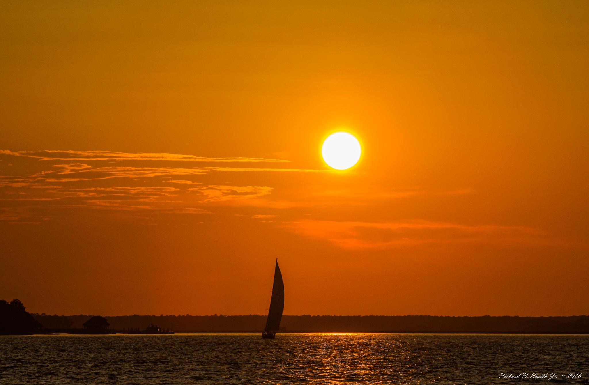 Sailing at Sunset by Richard B.  Smith Jr.