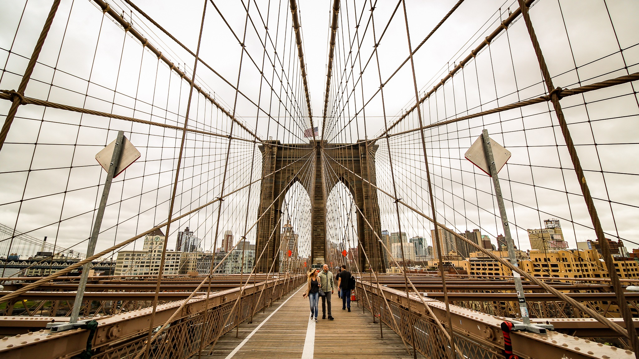 Brooklyn Bridge walk by Rafael Puerto