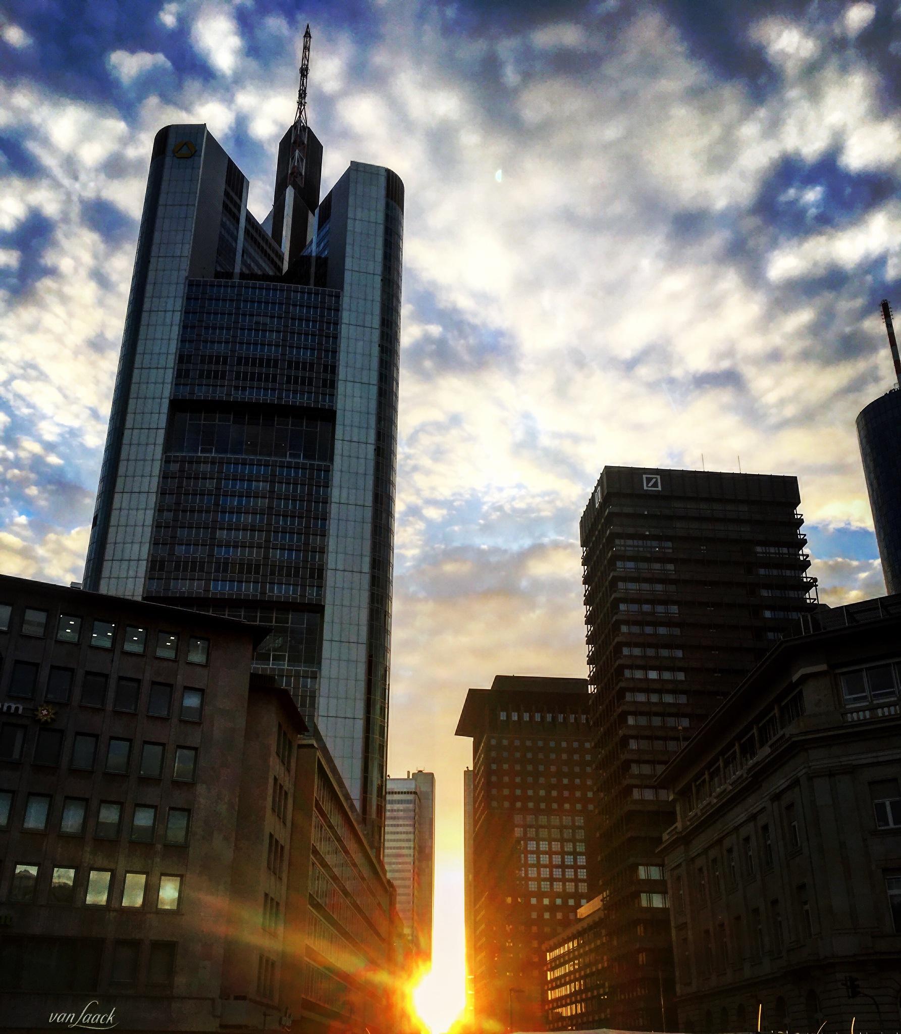 Sunset in Frankfurt / Germany  by Clarissa Altmann