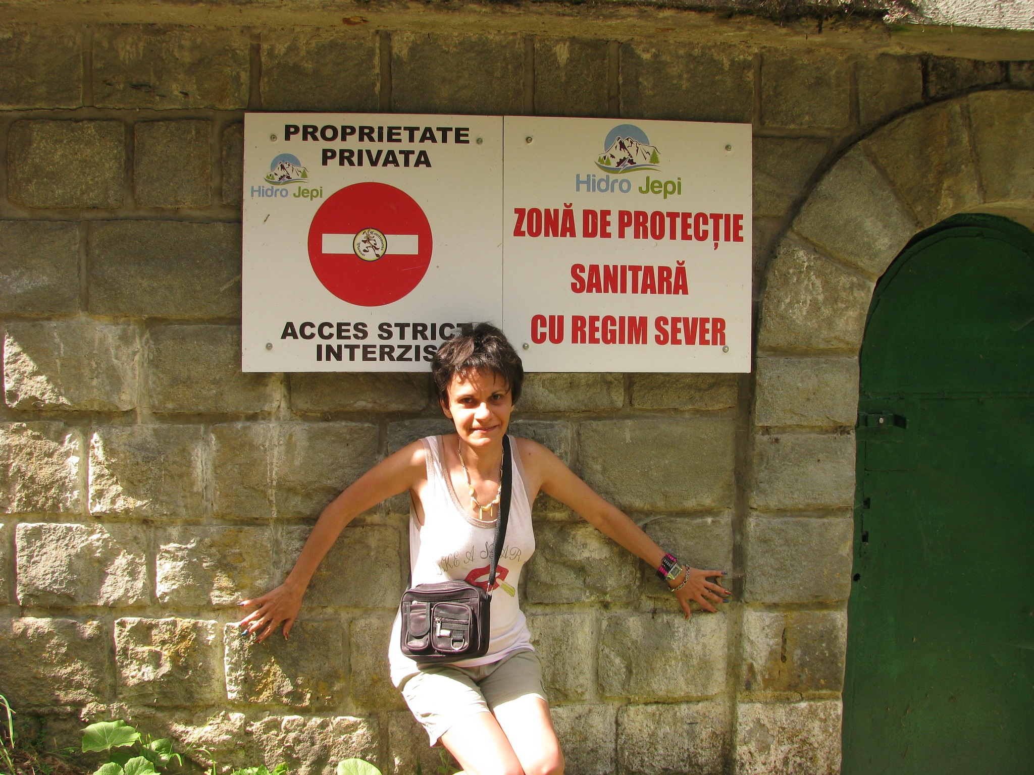 No Trespass, strictly forbidden, Sanitary protection area with strict regime ! by Elena Maria