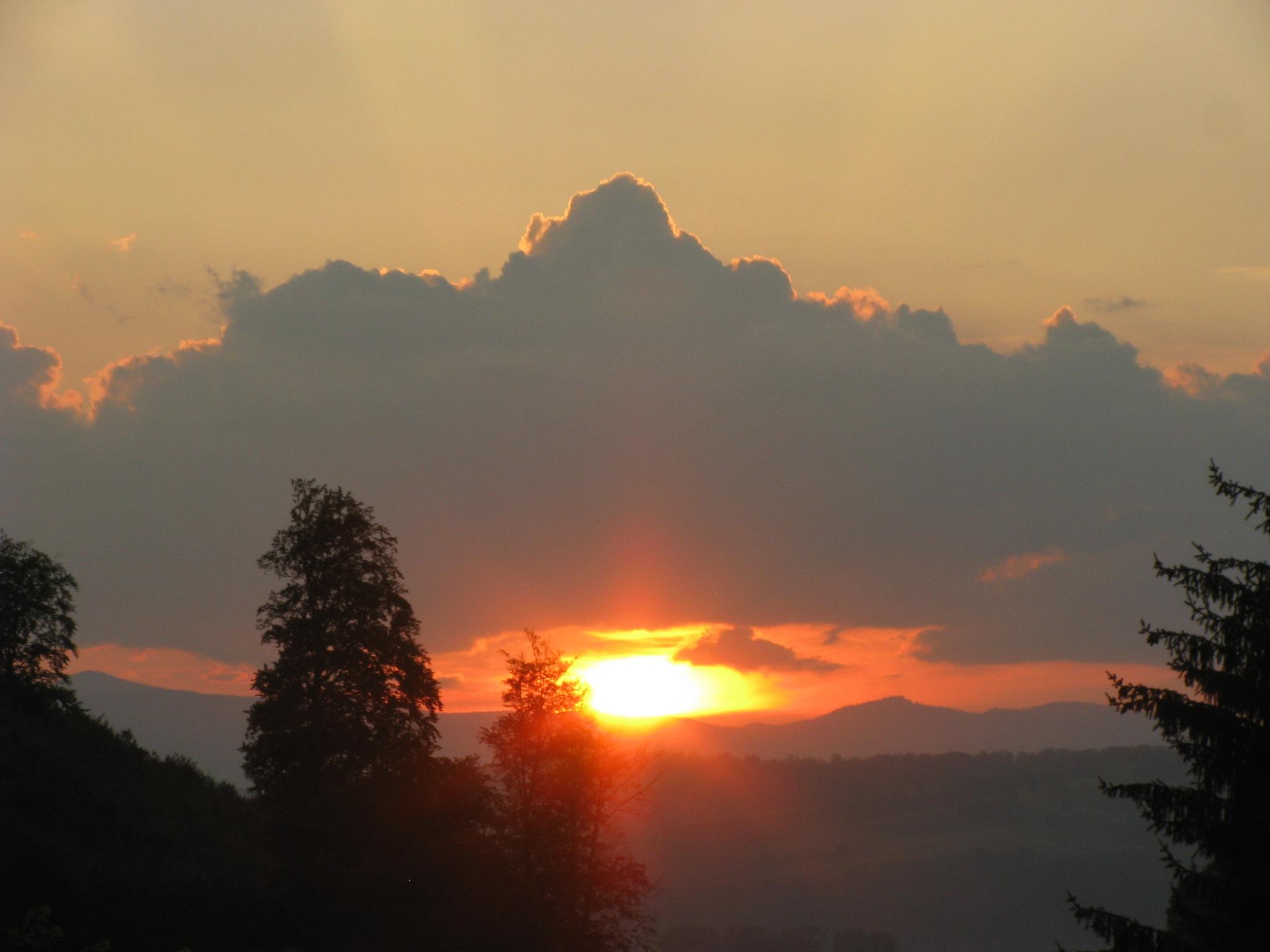 Sunset in Rasnov, Romania by Elena Maria