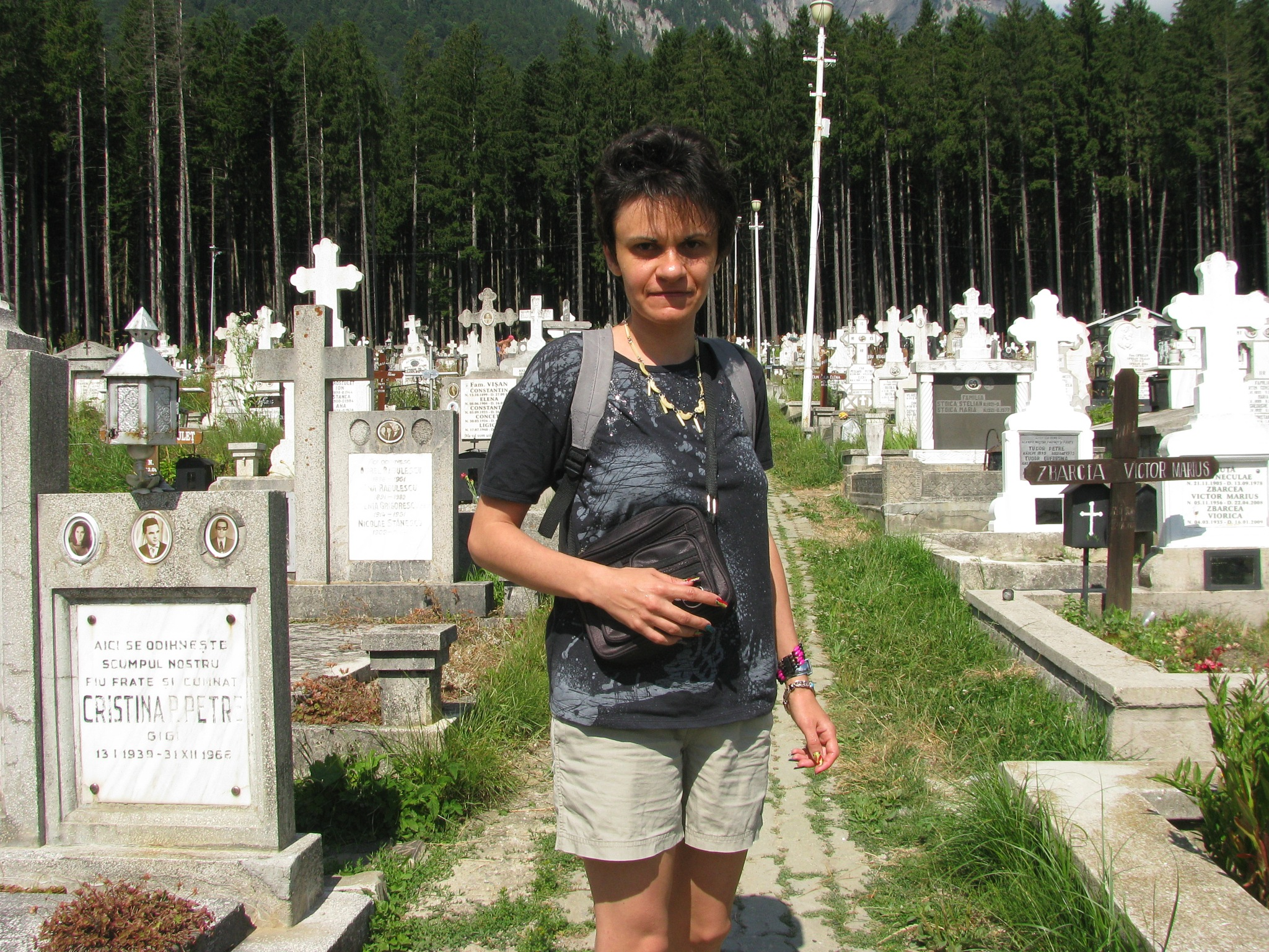 At cemetery in Busteni resort by Elena Maria
