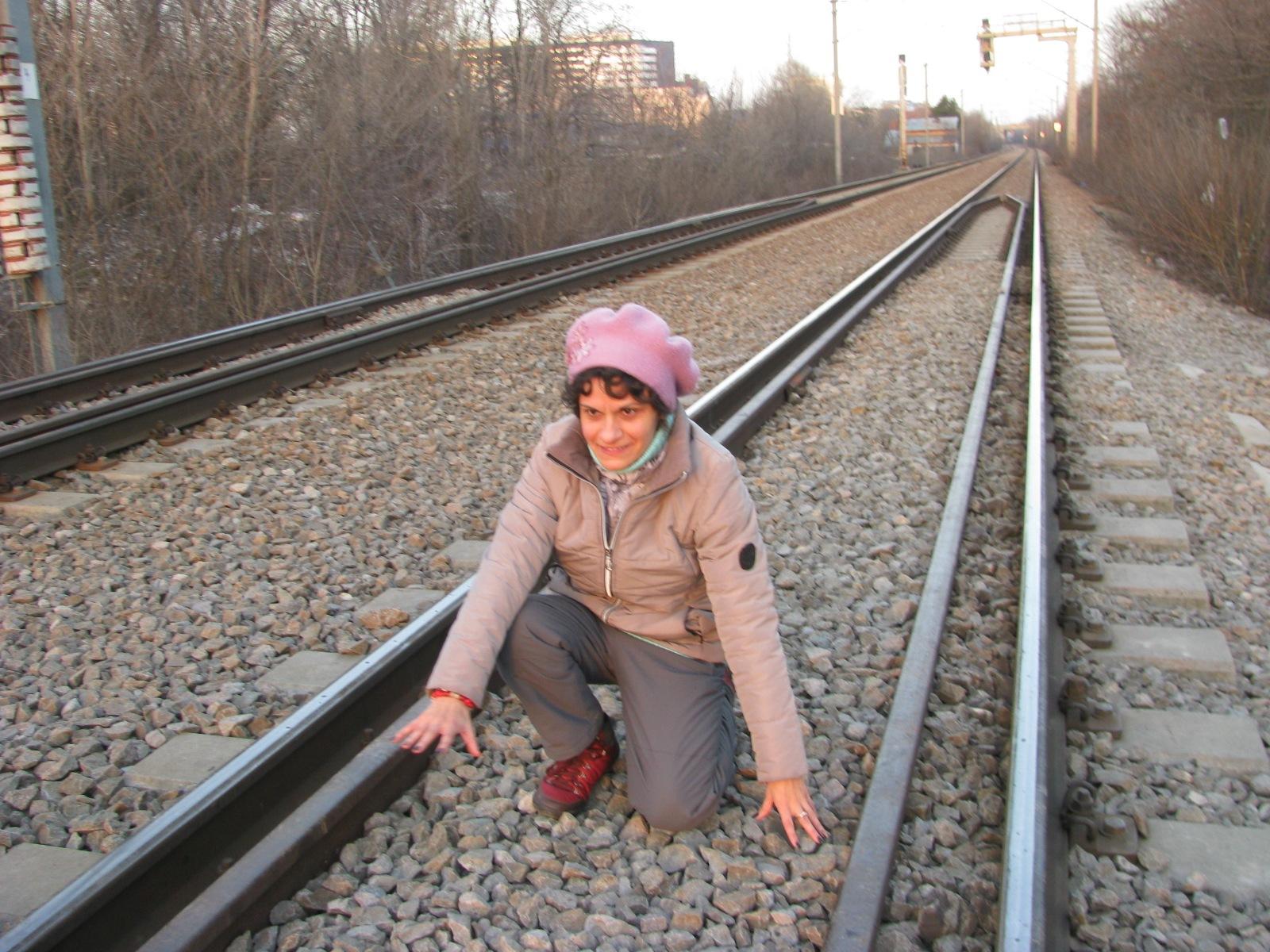 On the railway at herastrau Park- 26.02/ 2017 by Elena Maria