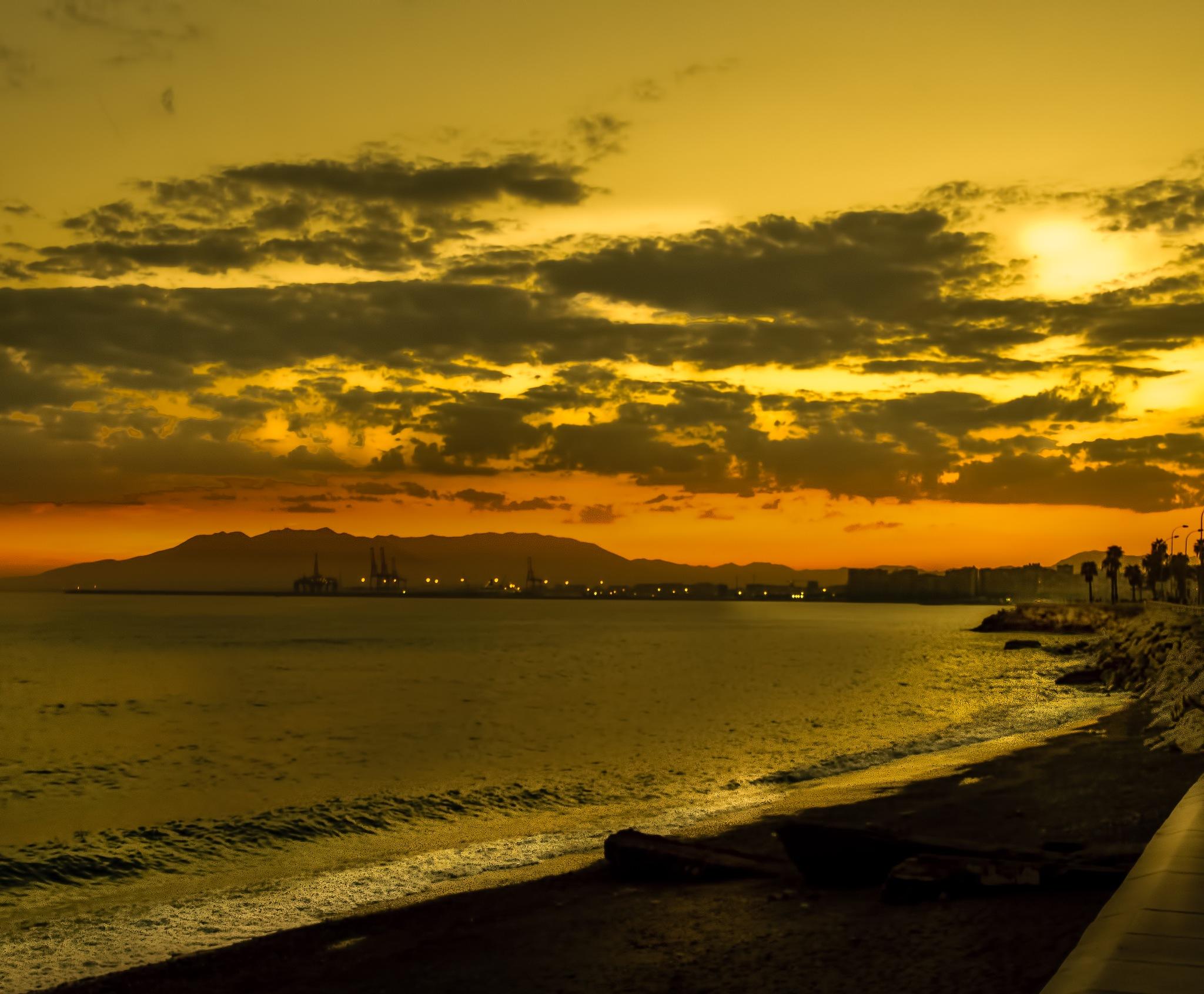 sunset malaga by Kurt Land