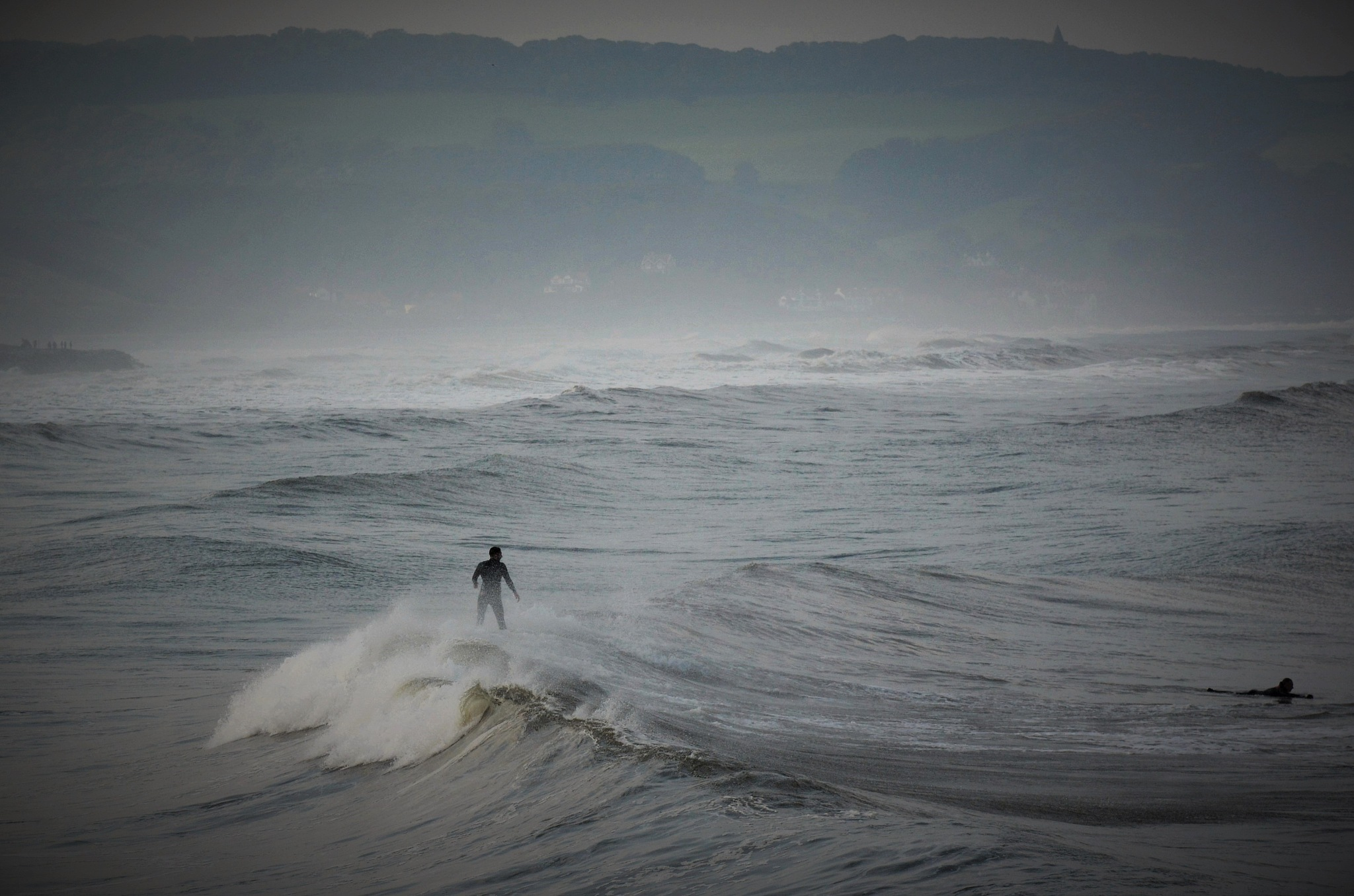Surfer in North Sea by alison16