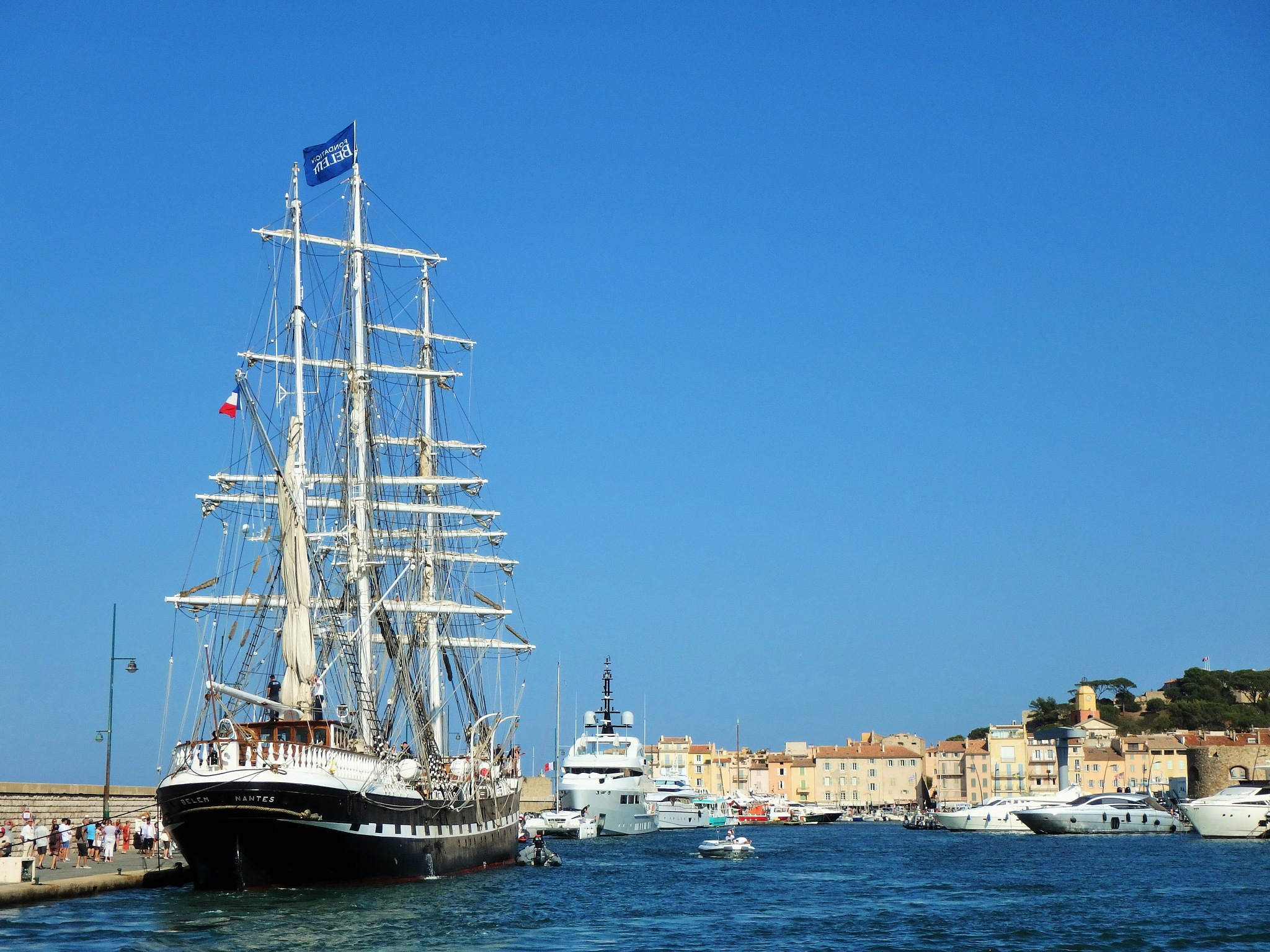 The Belem in the Port of St Tropez by alison16