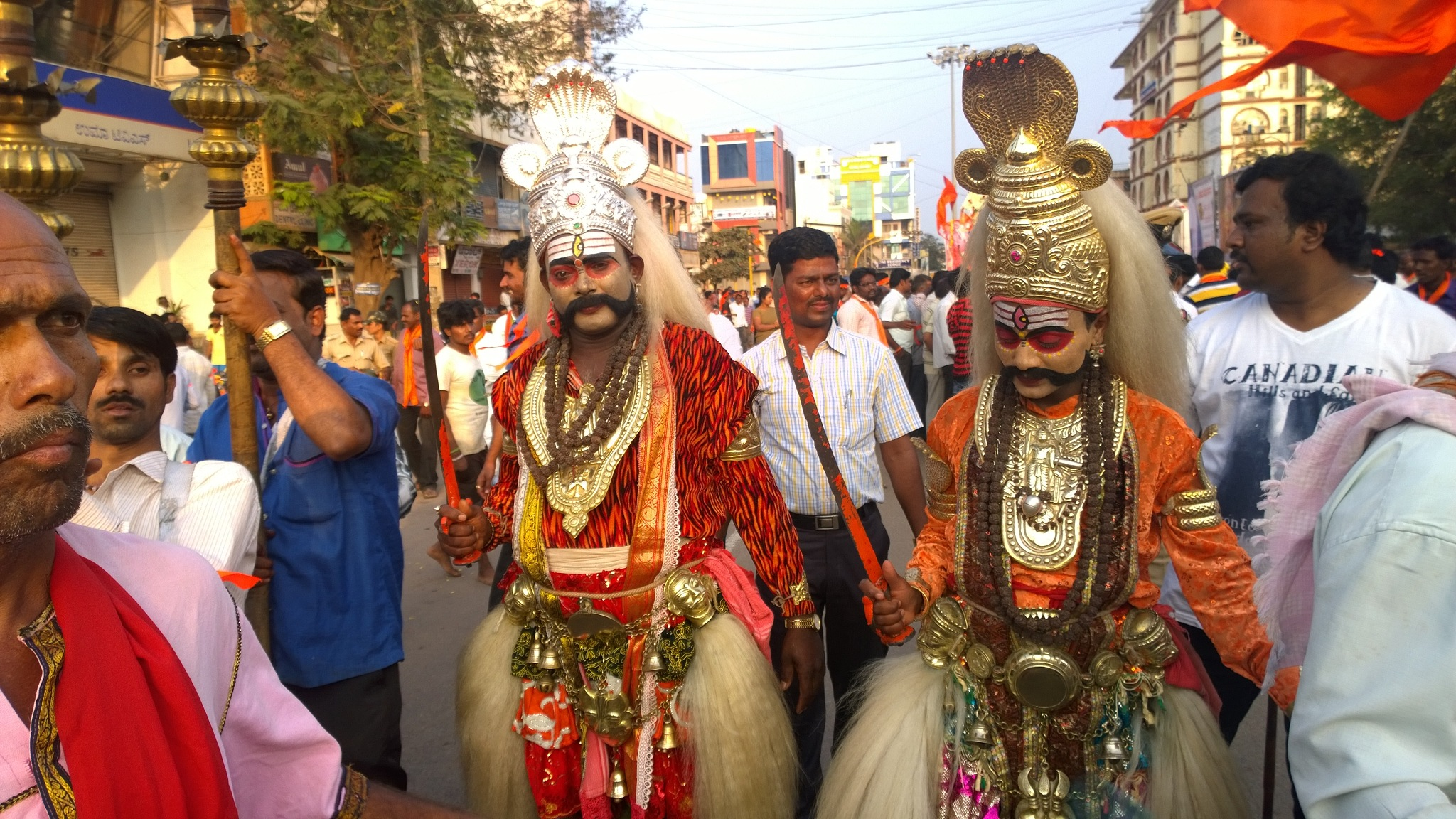 fancy dress for the cultural procession it's in Hospet karnataka india by Manjappa Rangappanavar
