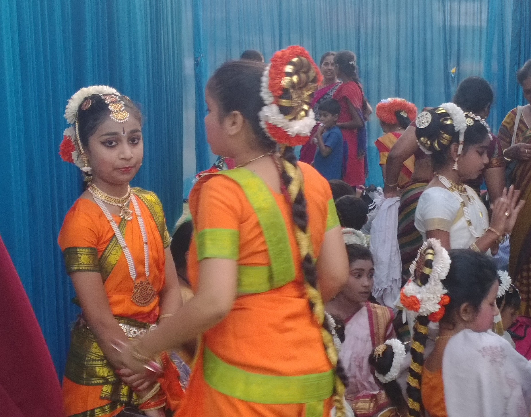 girls are preparing for the  indianculturl program  by Manjappa Rangappanavar