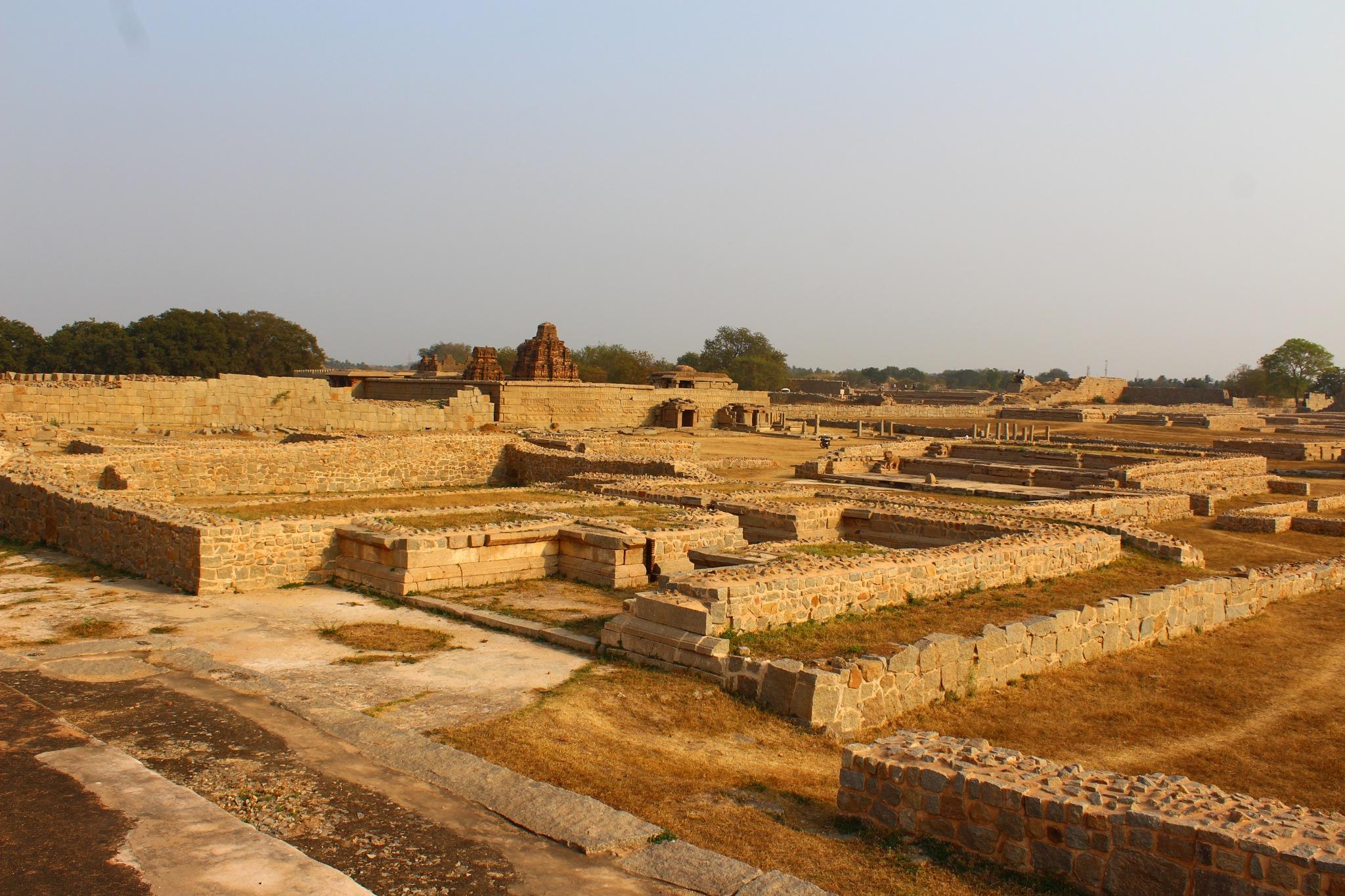 Old vijayanagara kingdom at  Hampi in karnataka india  by Manjappa Rangappanavar