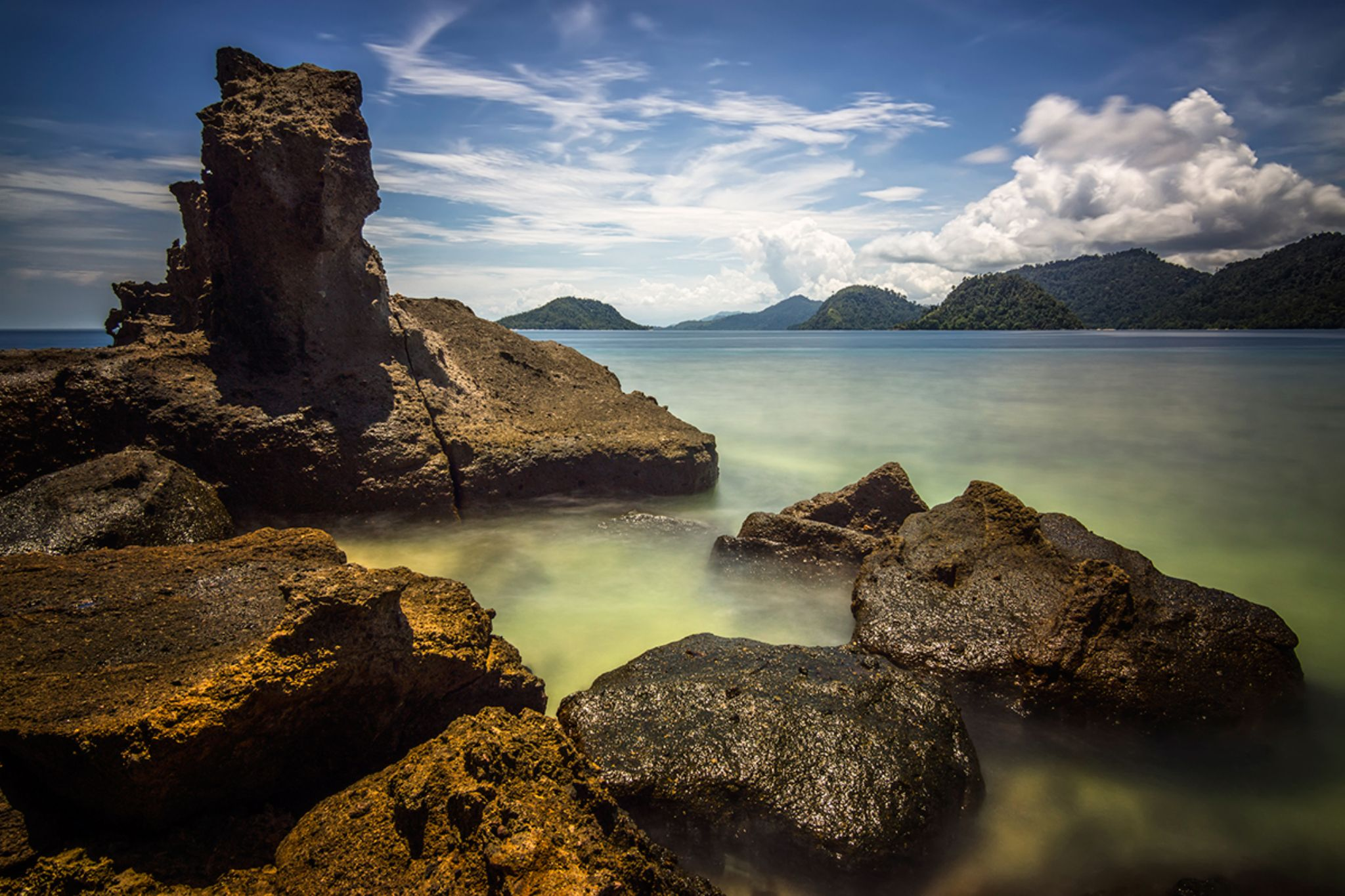 Rocks Formation of Pagang Island by AdeNoverzan