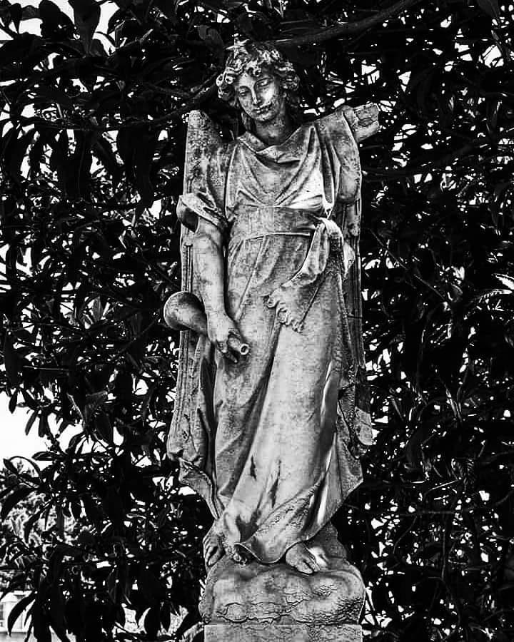 B/N cementerio . by Rodrigo Patricio Montoya Flores