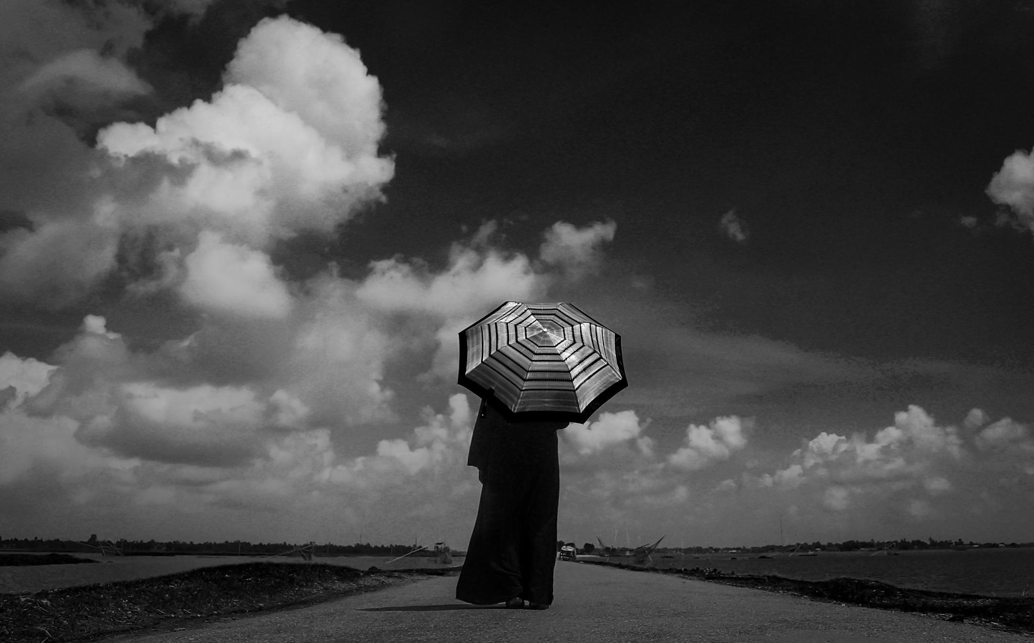 alone  by Ferdous Hafiza