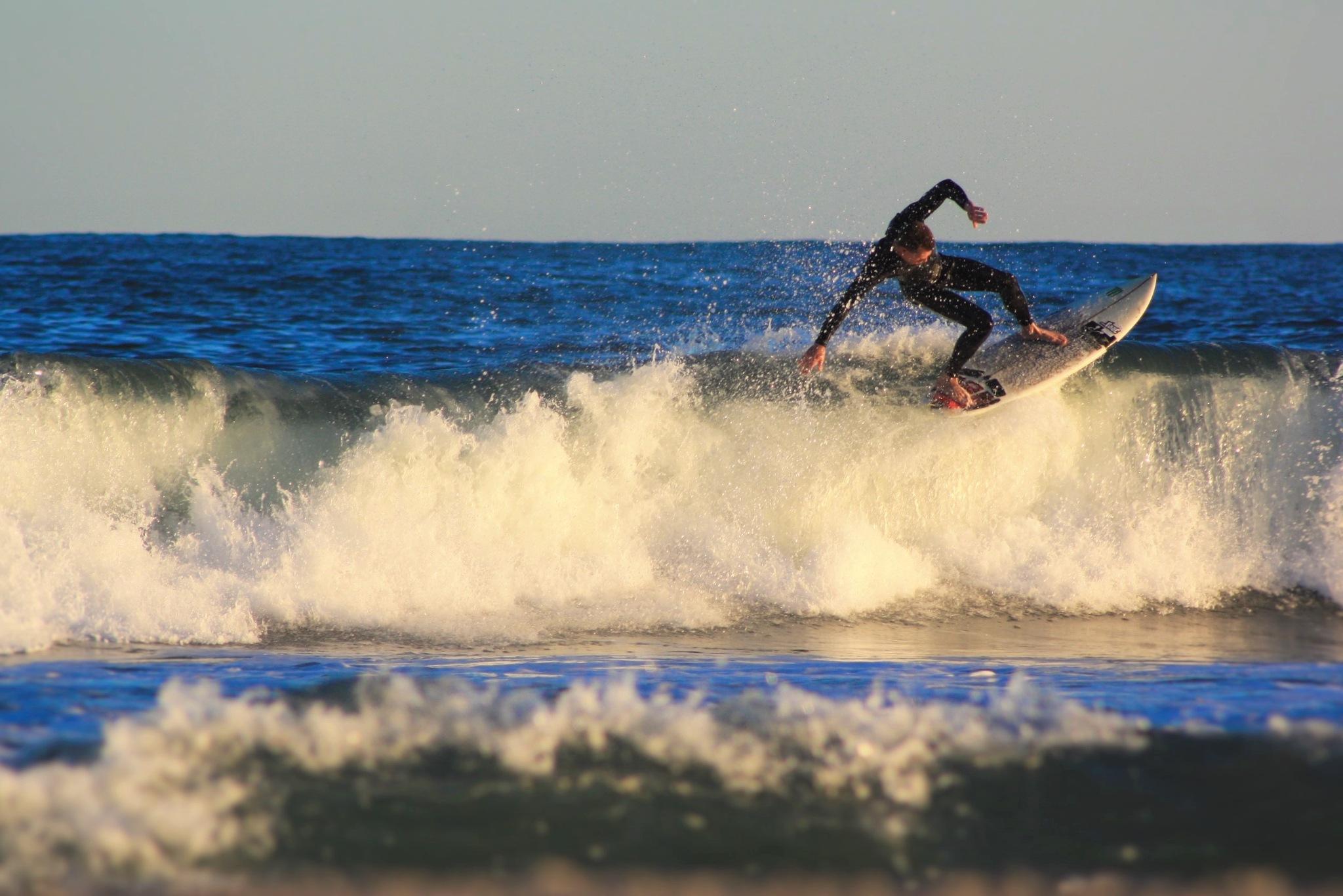 Surfer Floating by Gemeghan