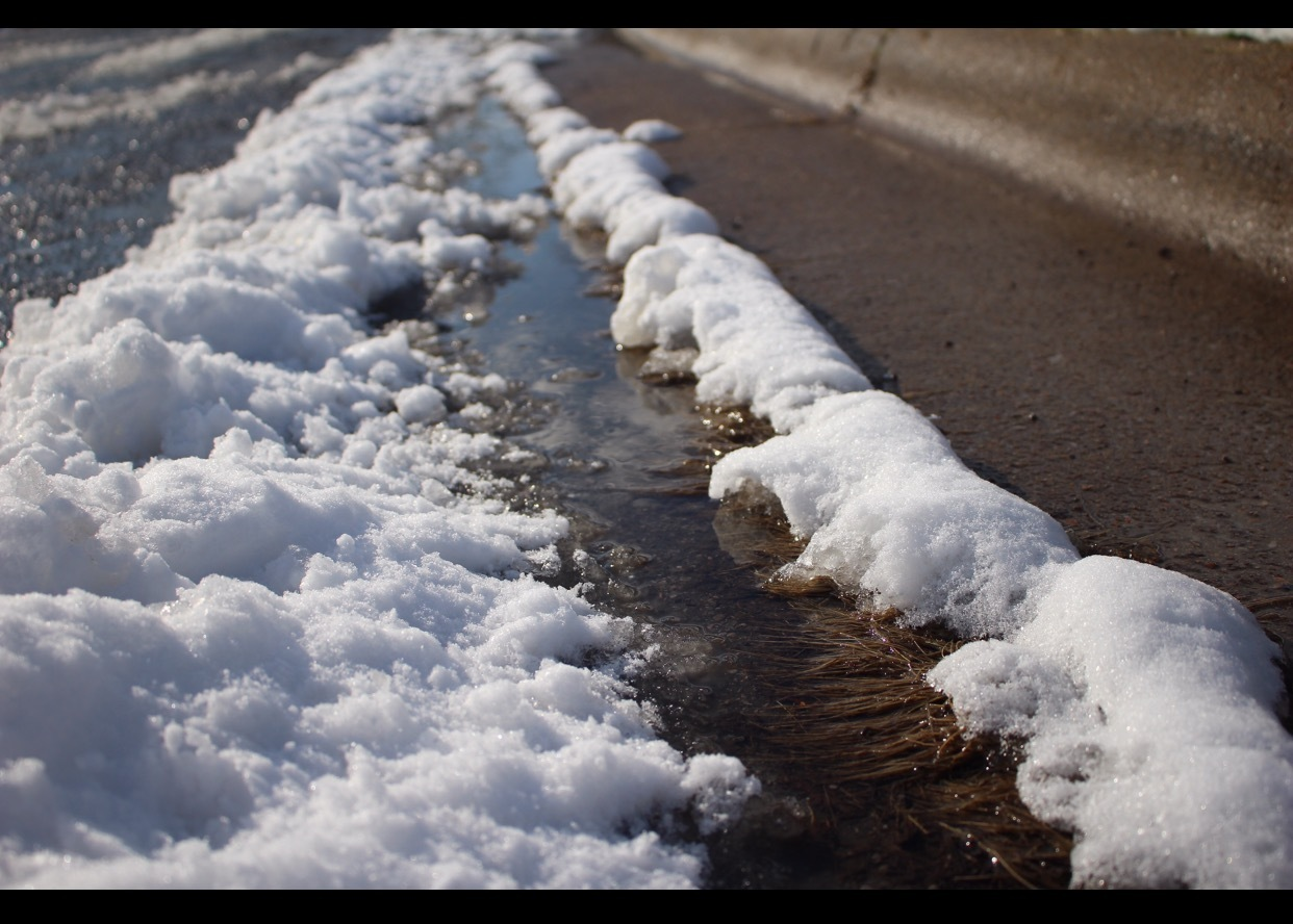 Snow in the street by Chris Luina