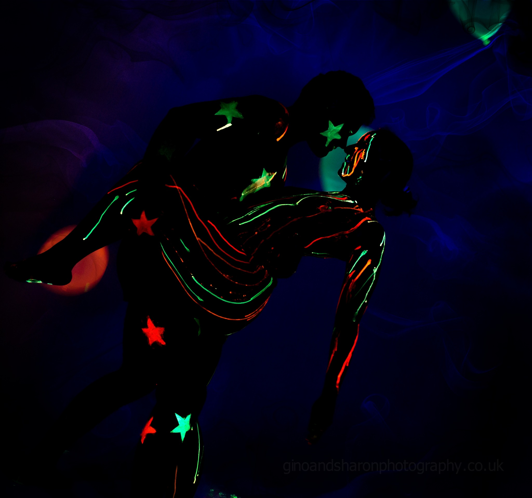 UV lights and Body Paint by Photographer Gino Cinganelli