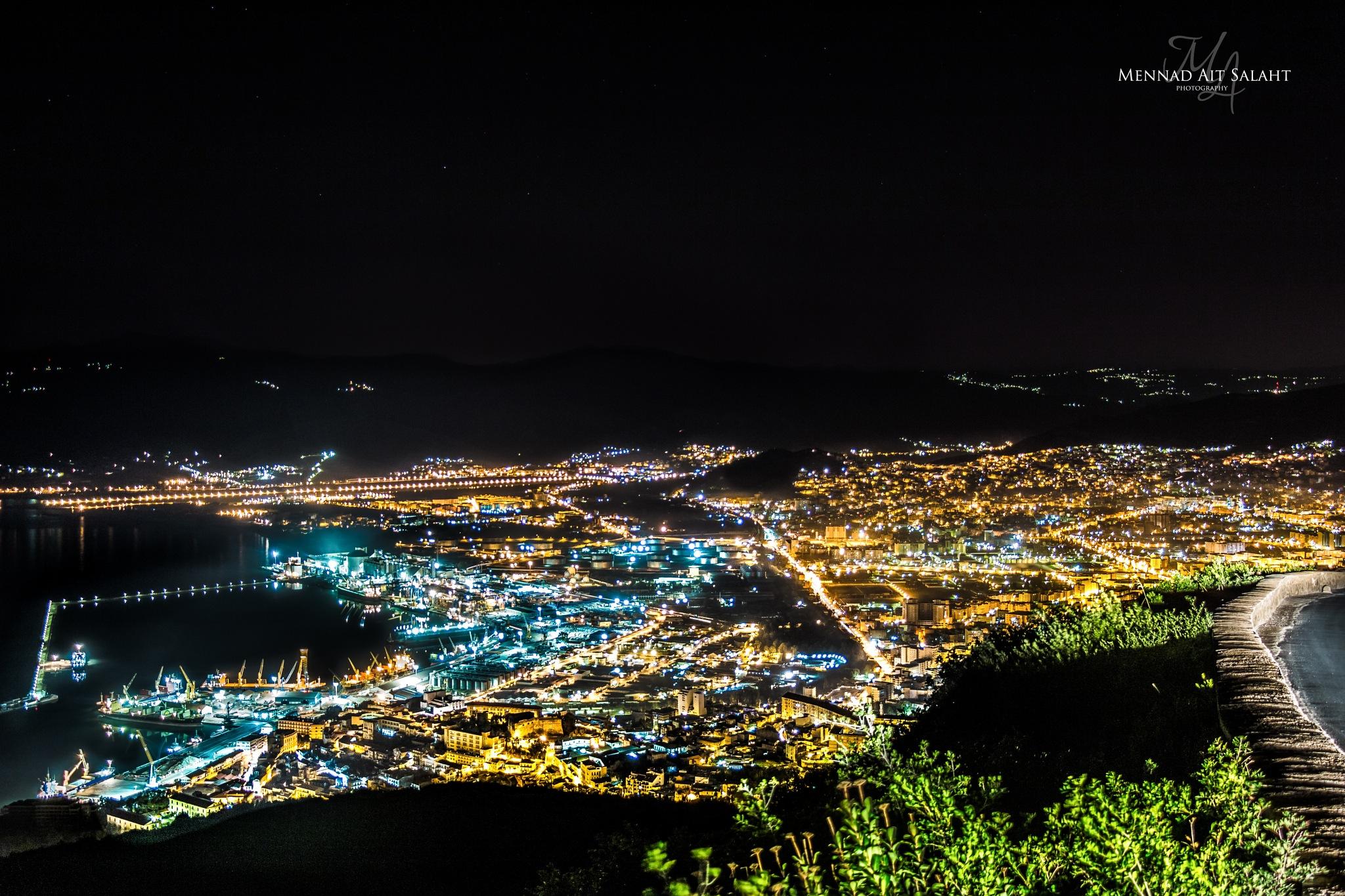 Bejaia By Night (Algeria) by Mennad AIT SALAHT