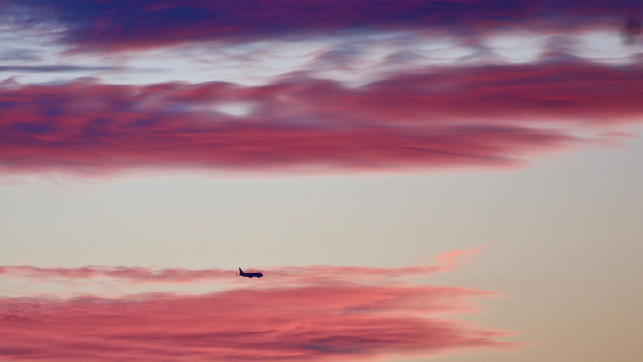 A plane approaching Heathrow earlier this evening by Geraint Roberts