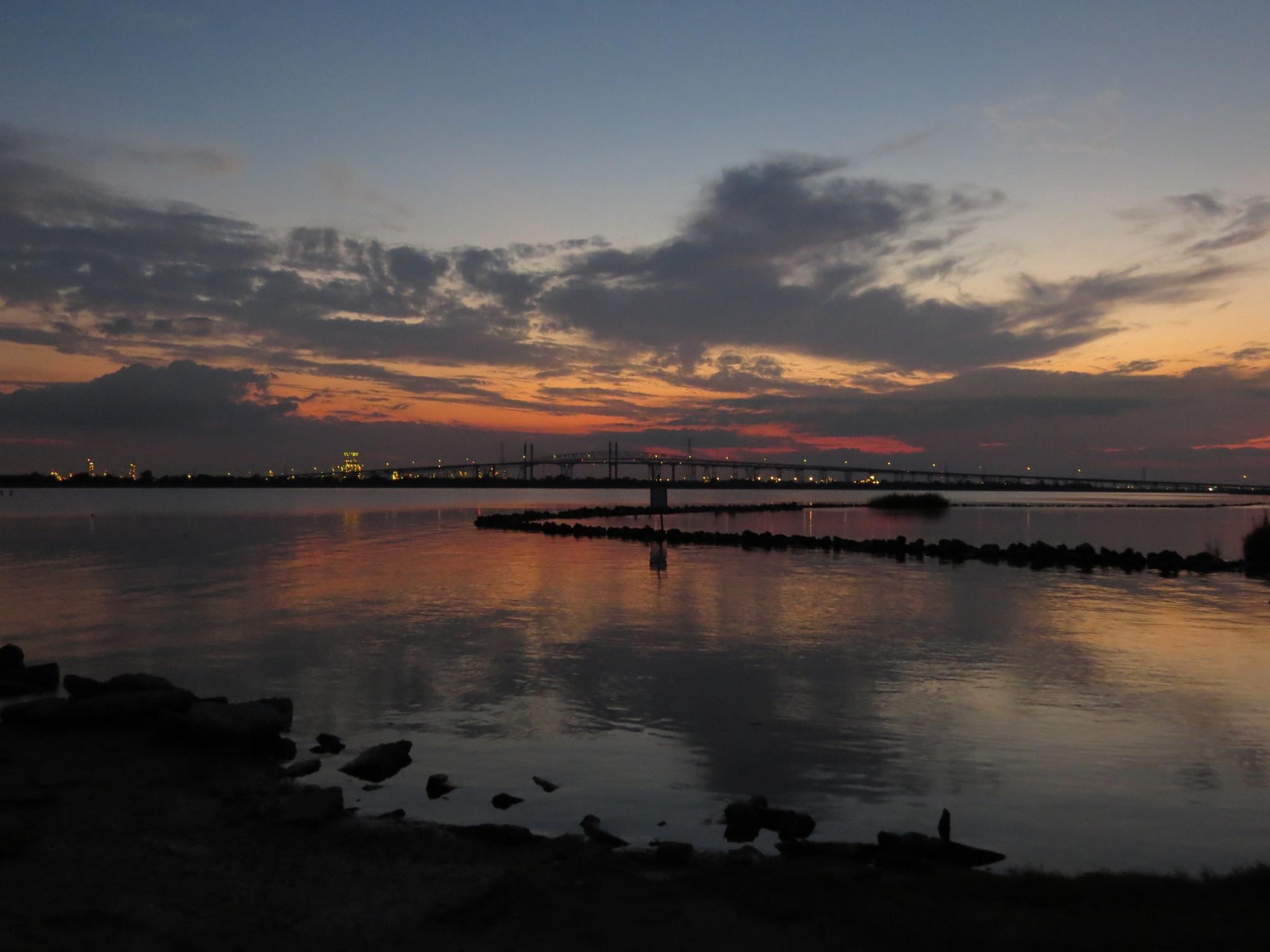 Bridge City Texas Sunset by jerrym