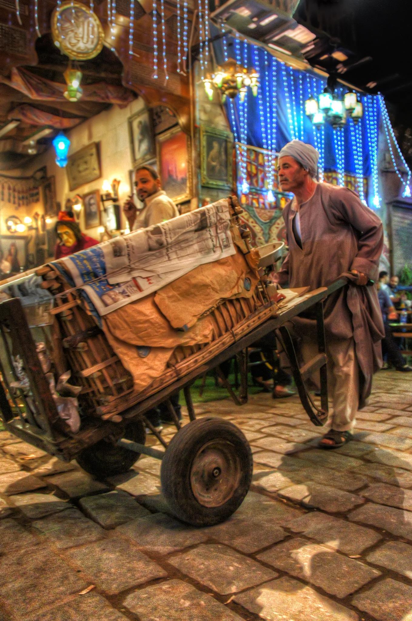 Street Grocer by Tawfik W Dajani