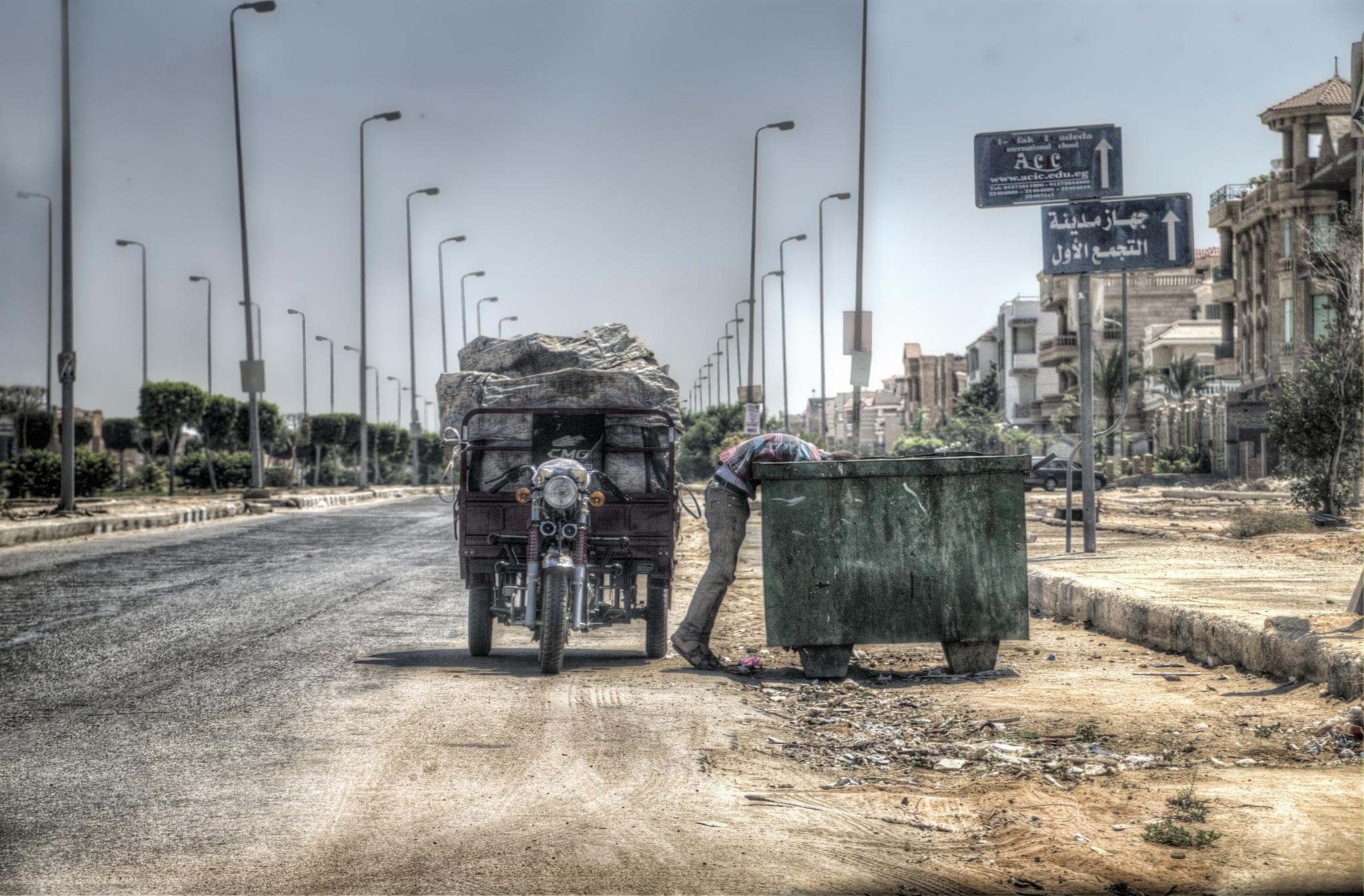 Trash Collector by Tawfik W Dajani