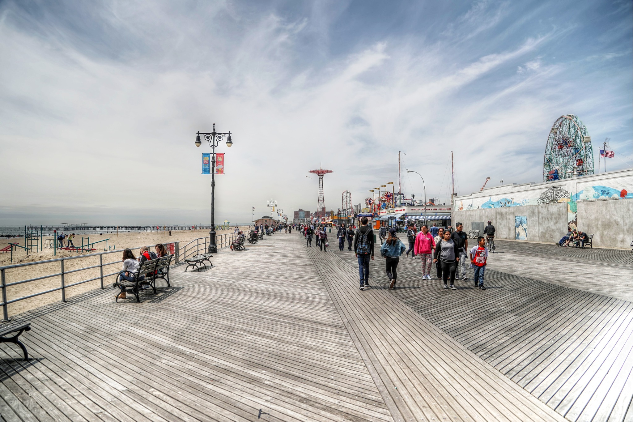 Coney Island Beach by Tawfik W Dajani