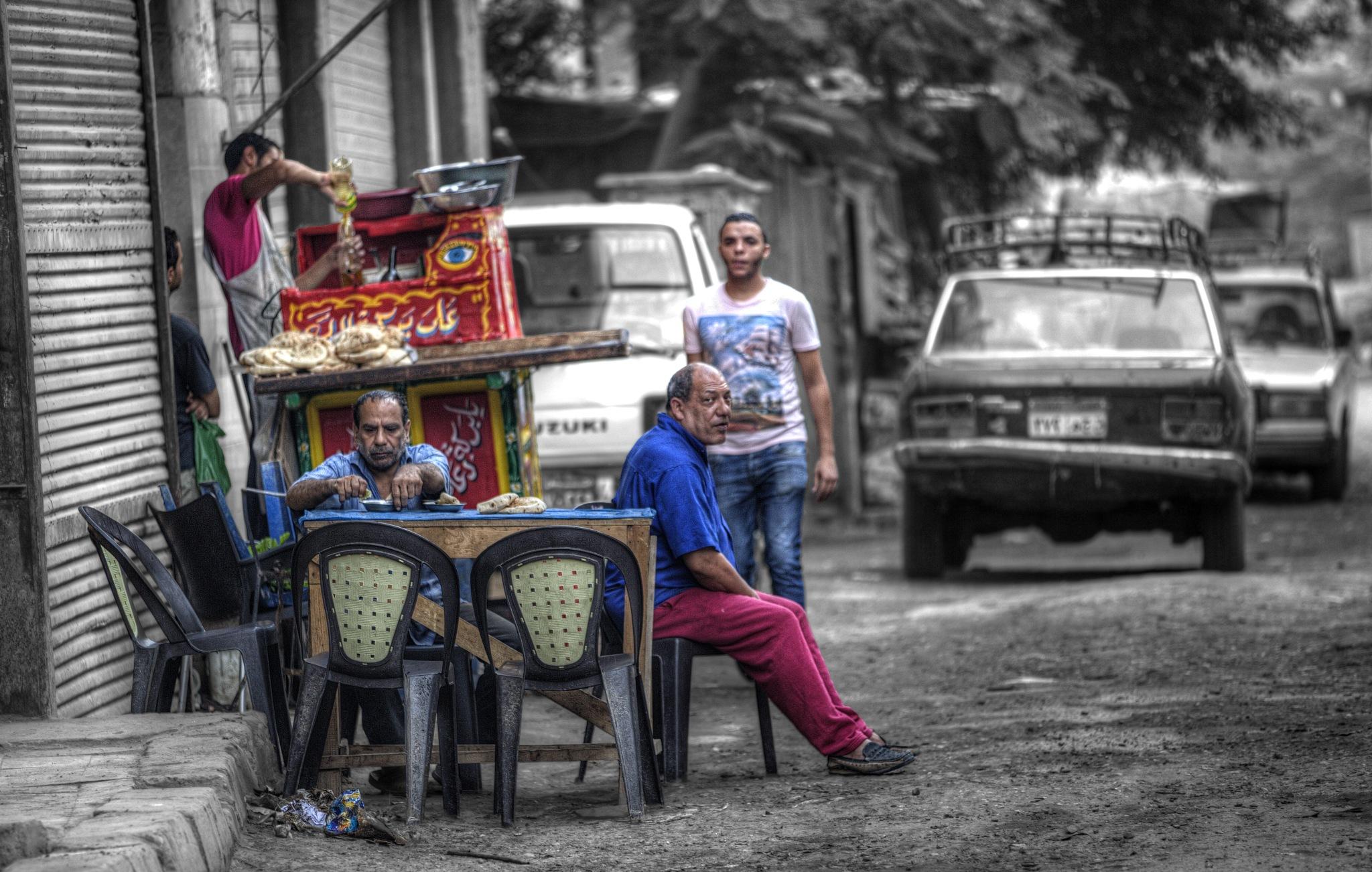 Street Cafe by Tawfik W Dajani