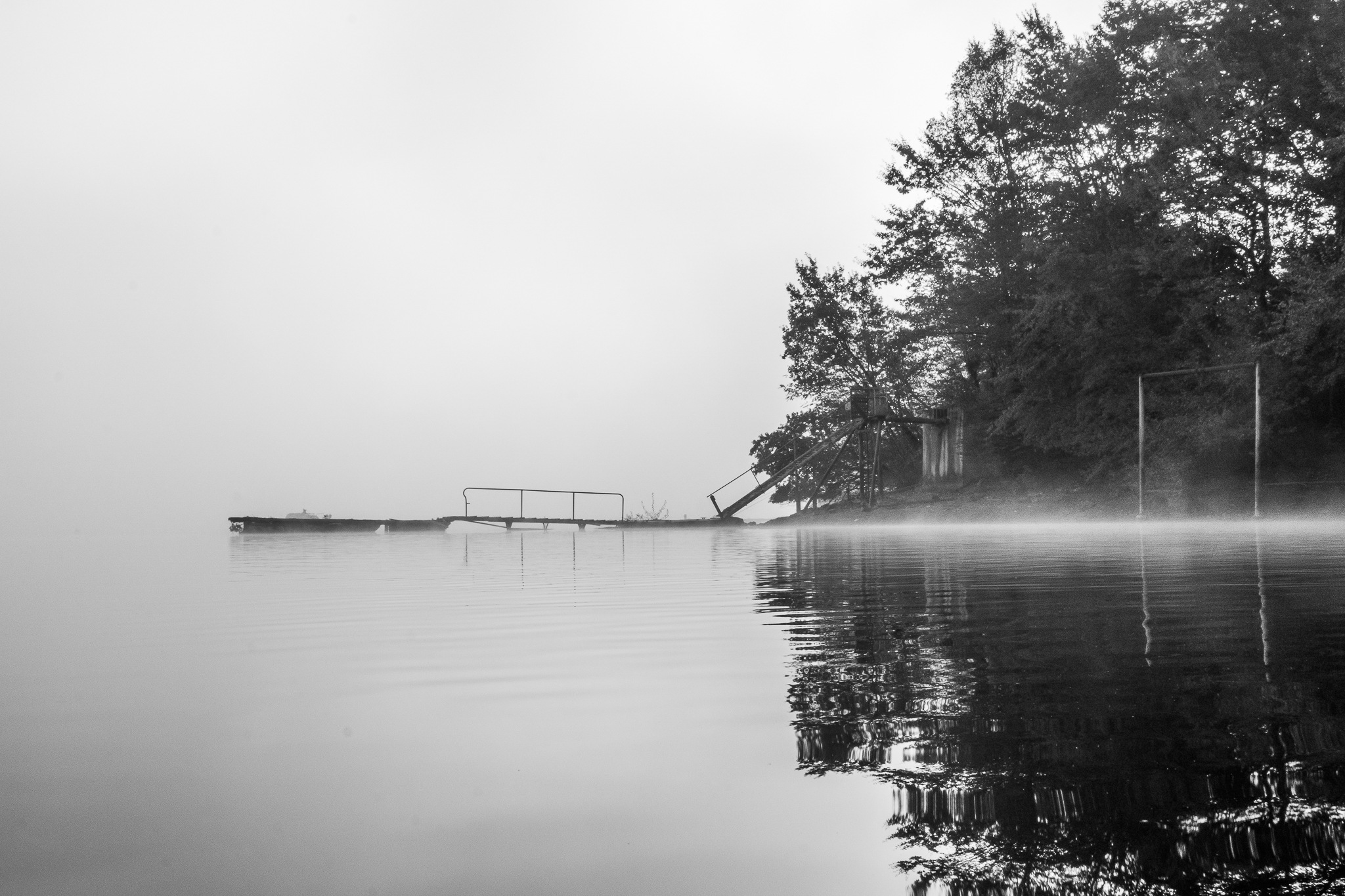 Lake in the mist by Bertrand Le Cabec