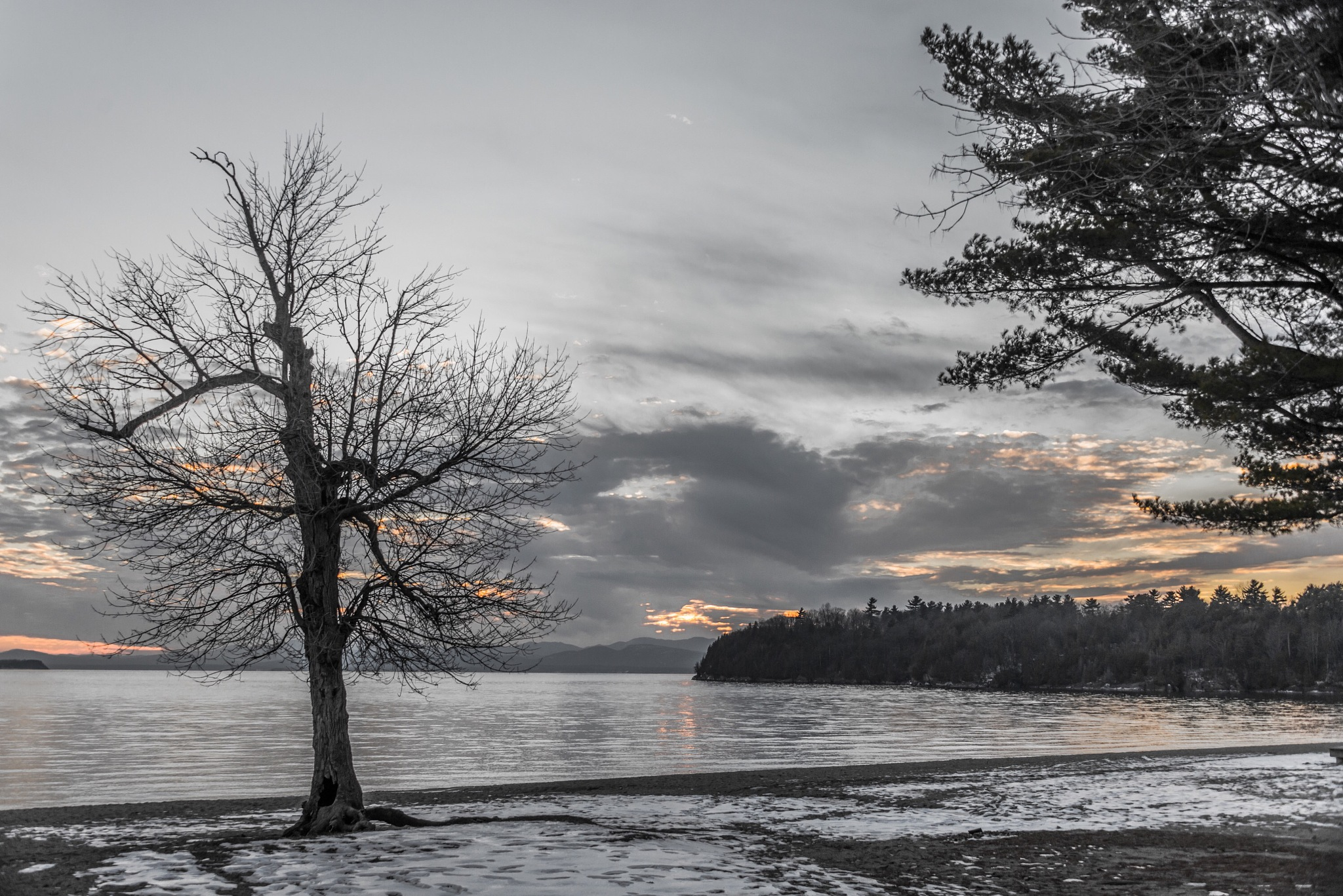 Cold Lake Sunset by Dan Falby