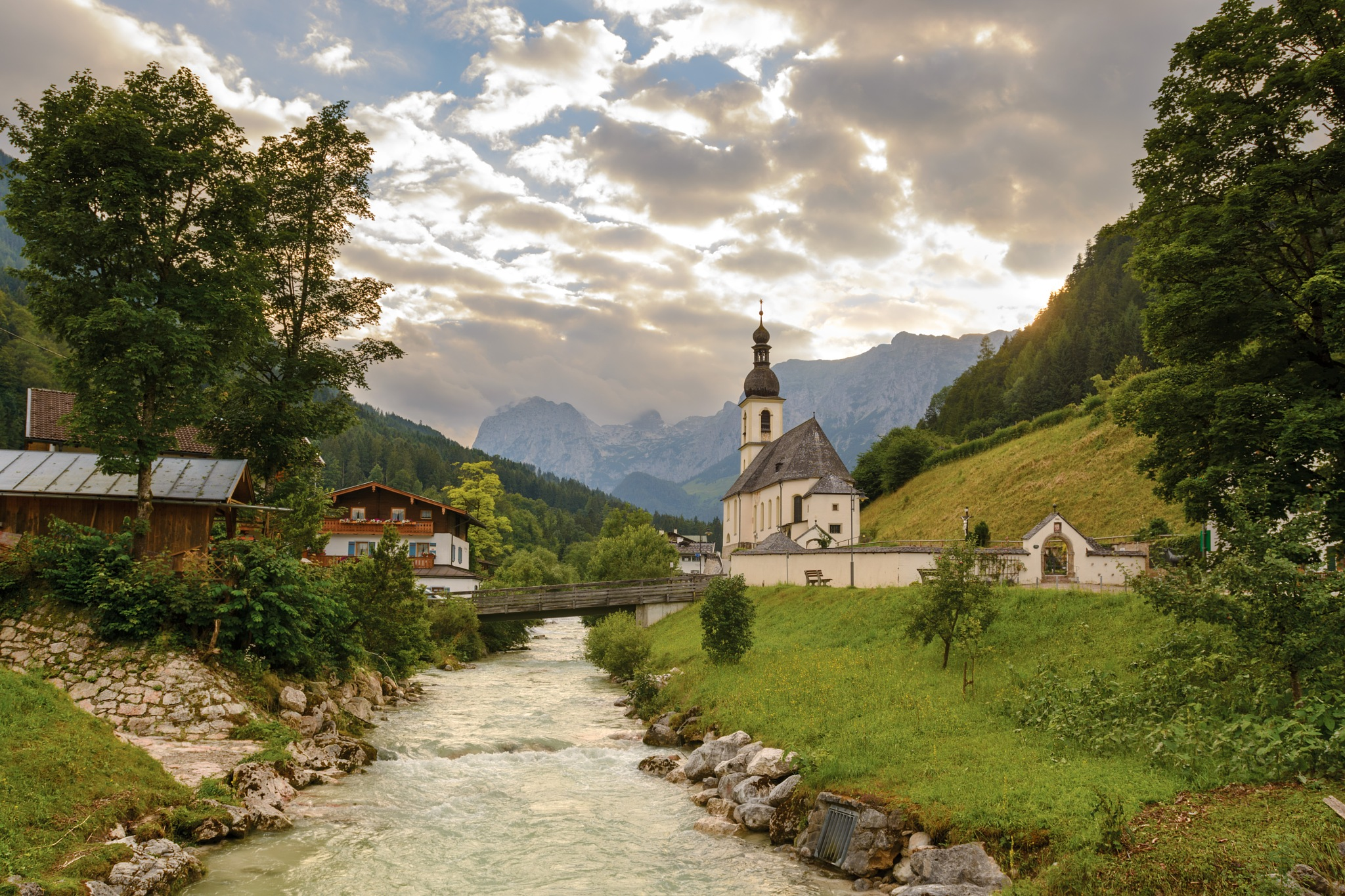 Church in Ramsau by Yury Kirillov